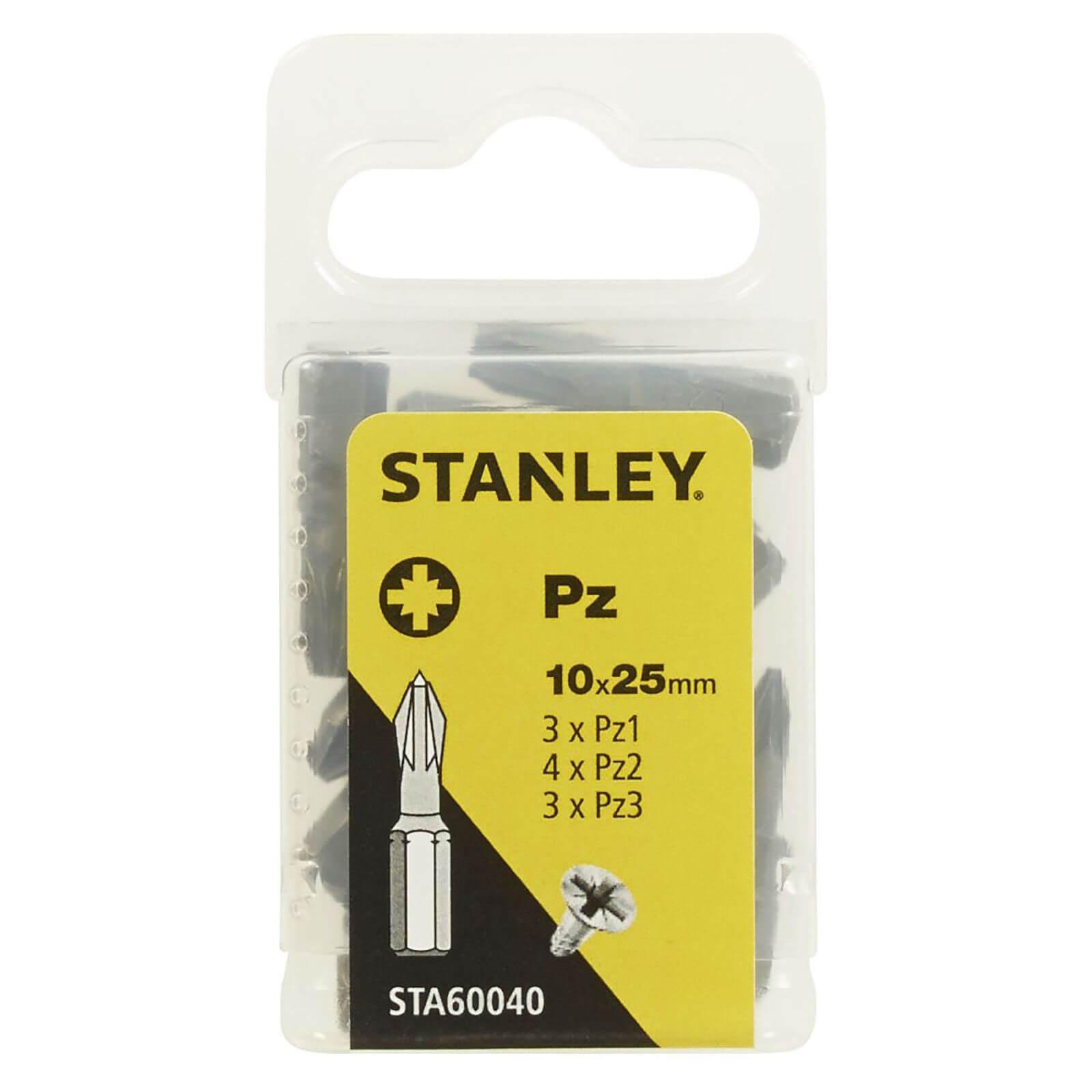 Stanley Fatmax 10Pc Mixed Pozi 25mm bits - STA60040-XJ
