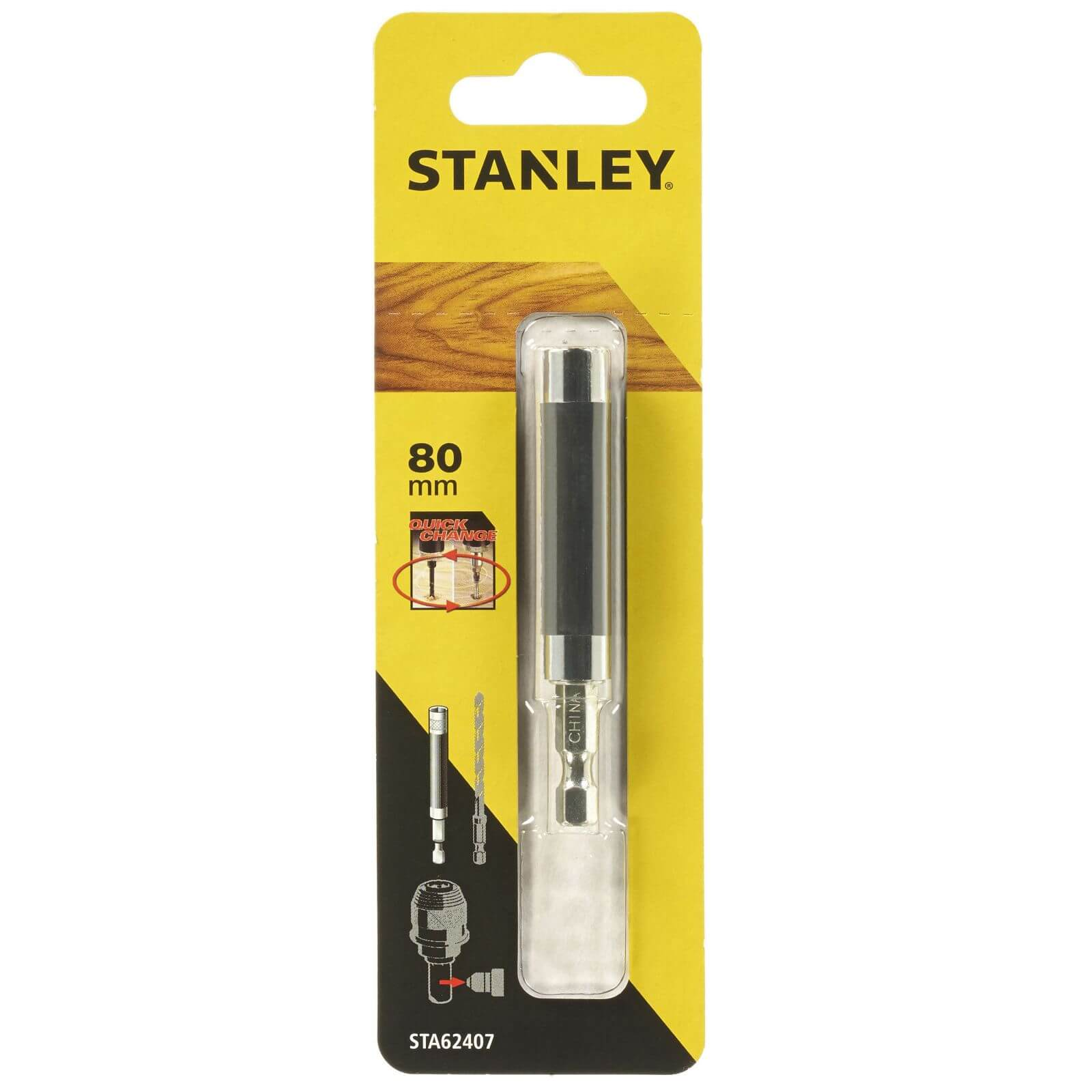 Stanley Fatmax Magnetic Bit Holder And Sleeve 80mm - STA62407-XJ