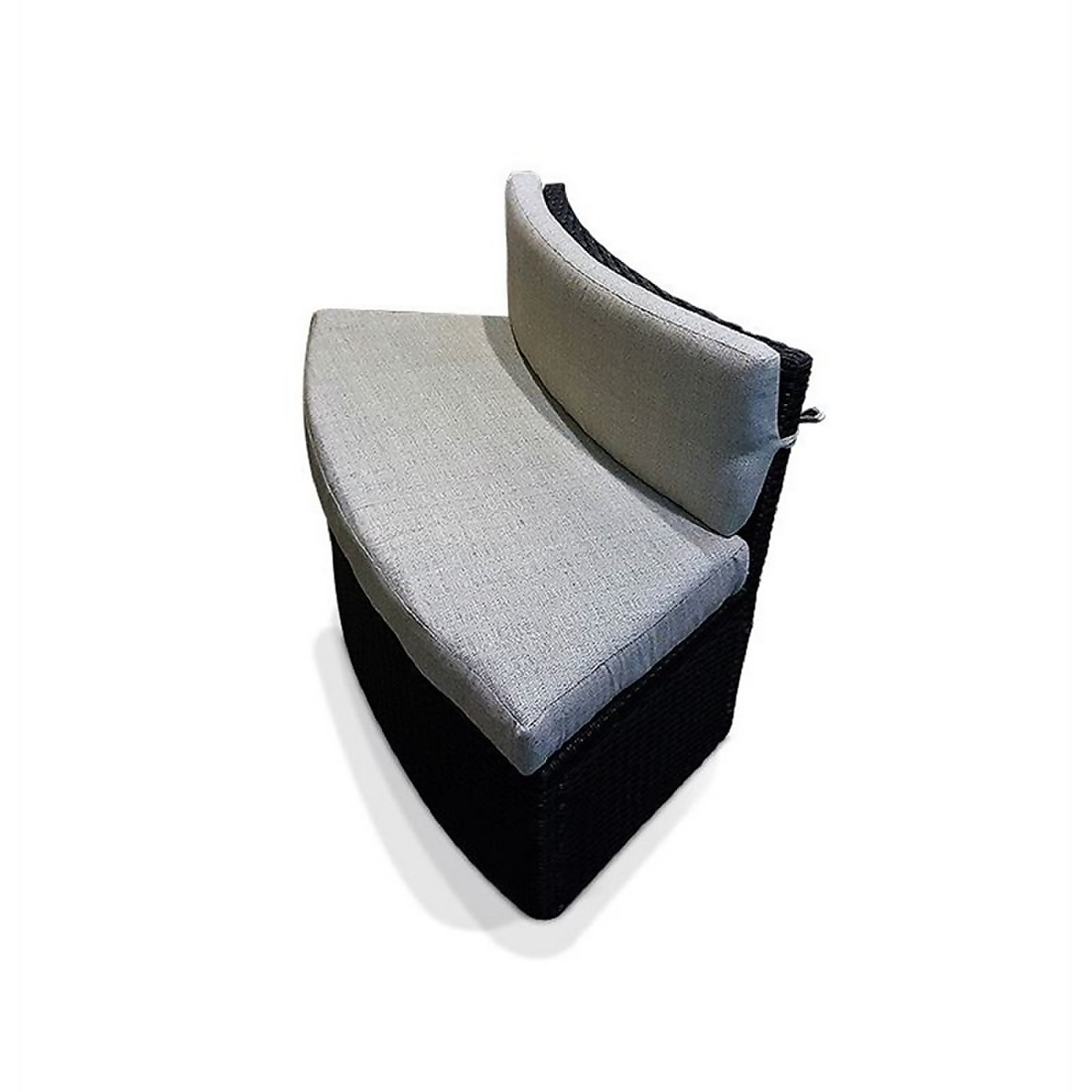 Canadian Spa Rattan Love Seat Sofa with Cushions