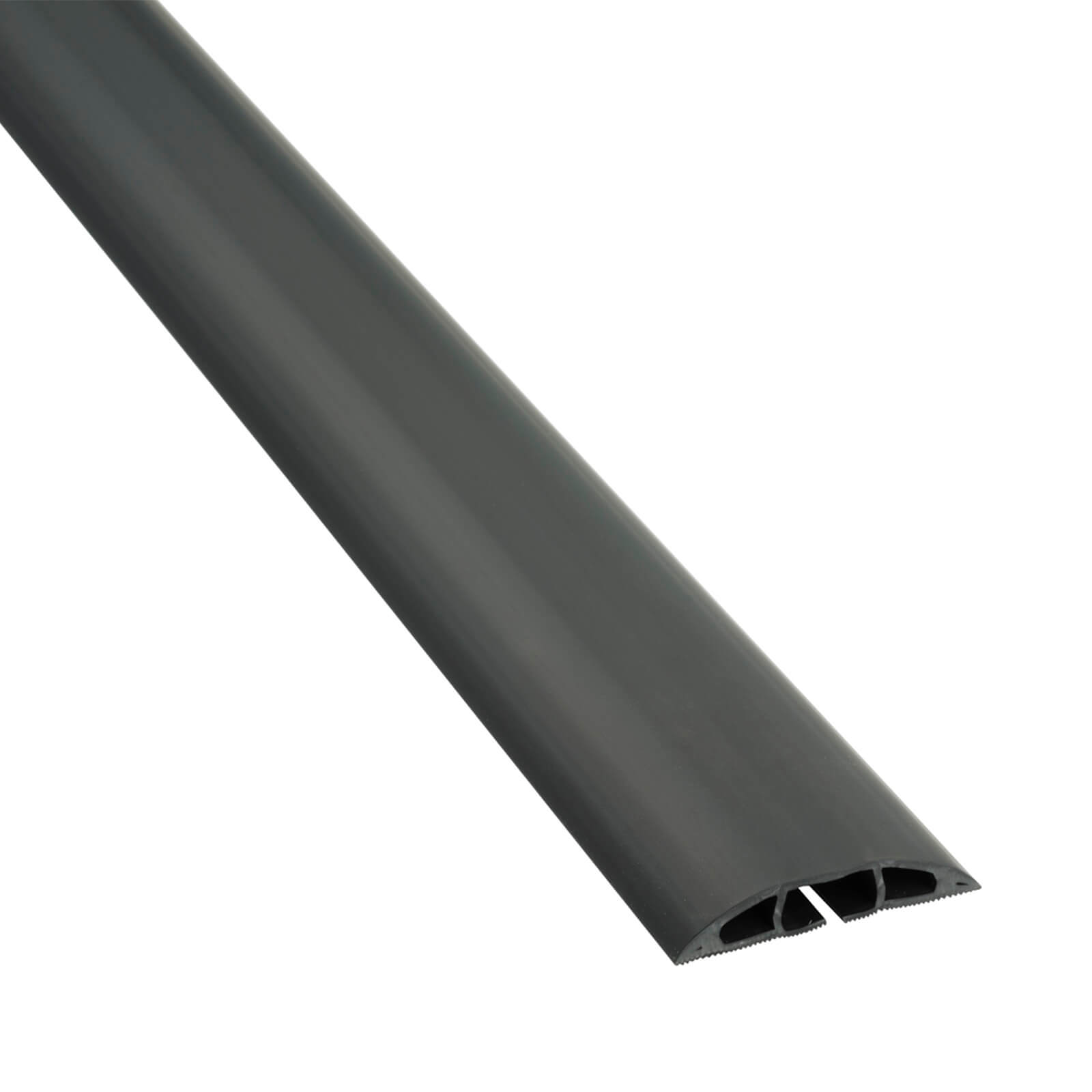 D-Line Light Duty Floor Cable Cover 17mm x 9mm x 1.8m Black