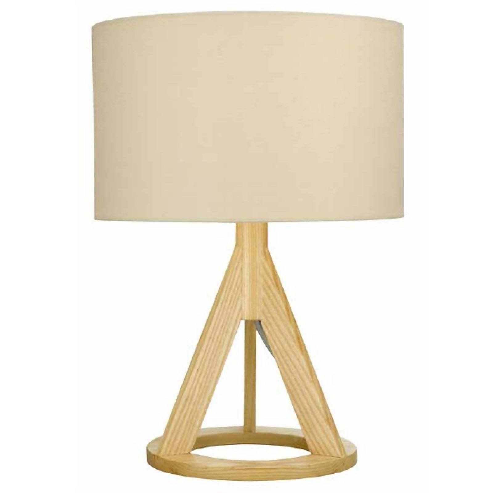 Mason Wooden Tripod Table Lamp - Natural