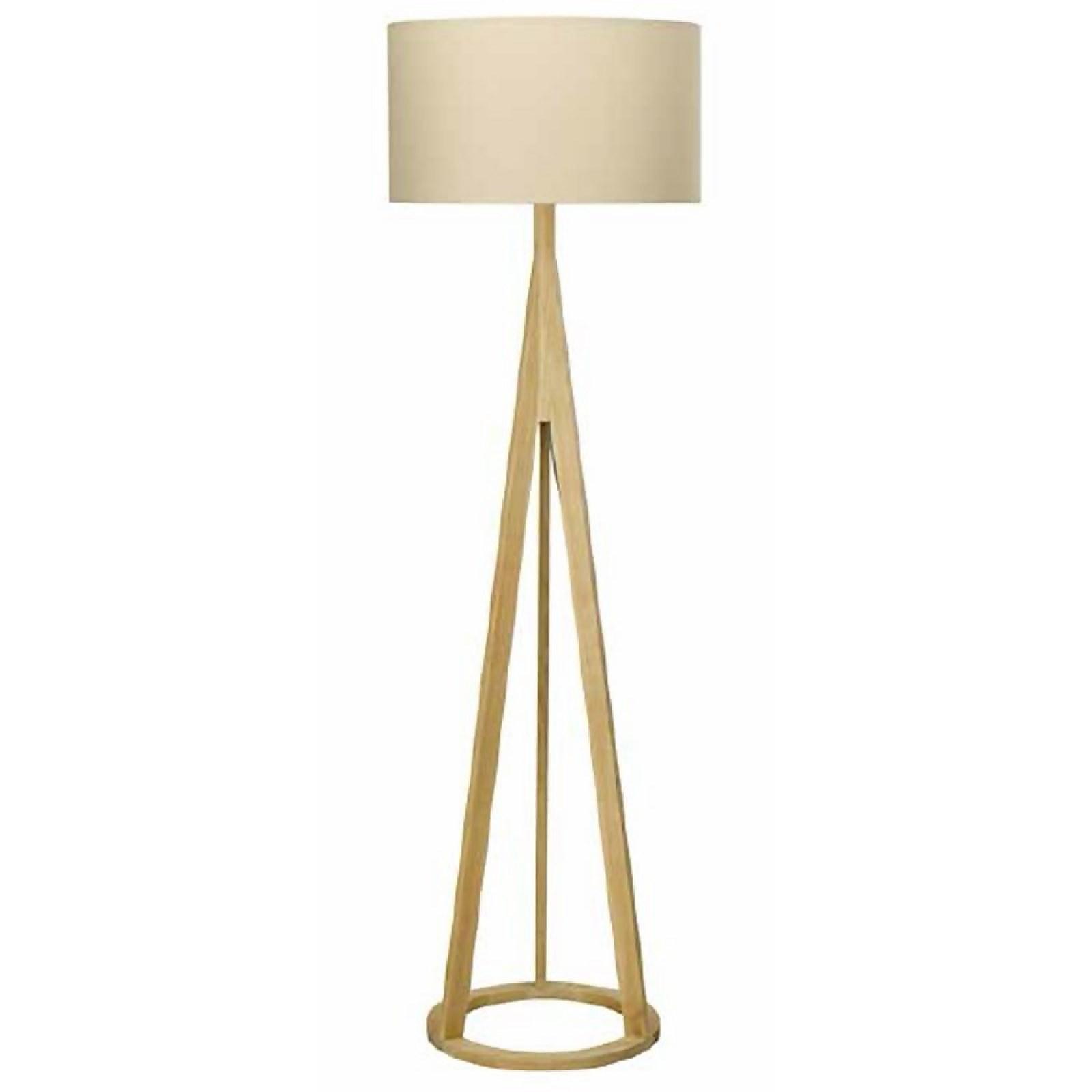 Mason Wooden Tripod Floor Lamp