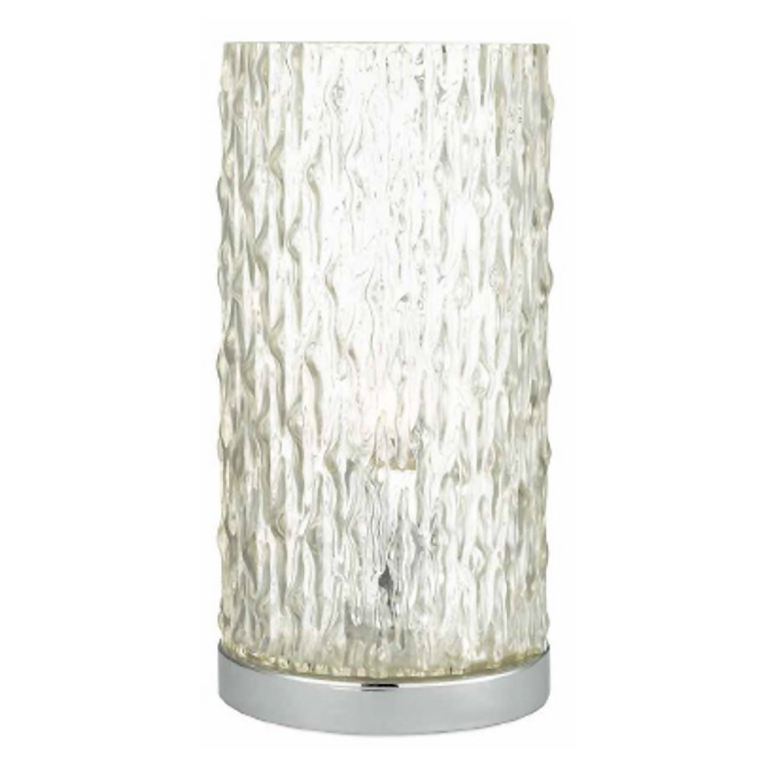 Textured Glass Table Lamp - Chrome