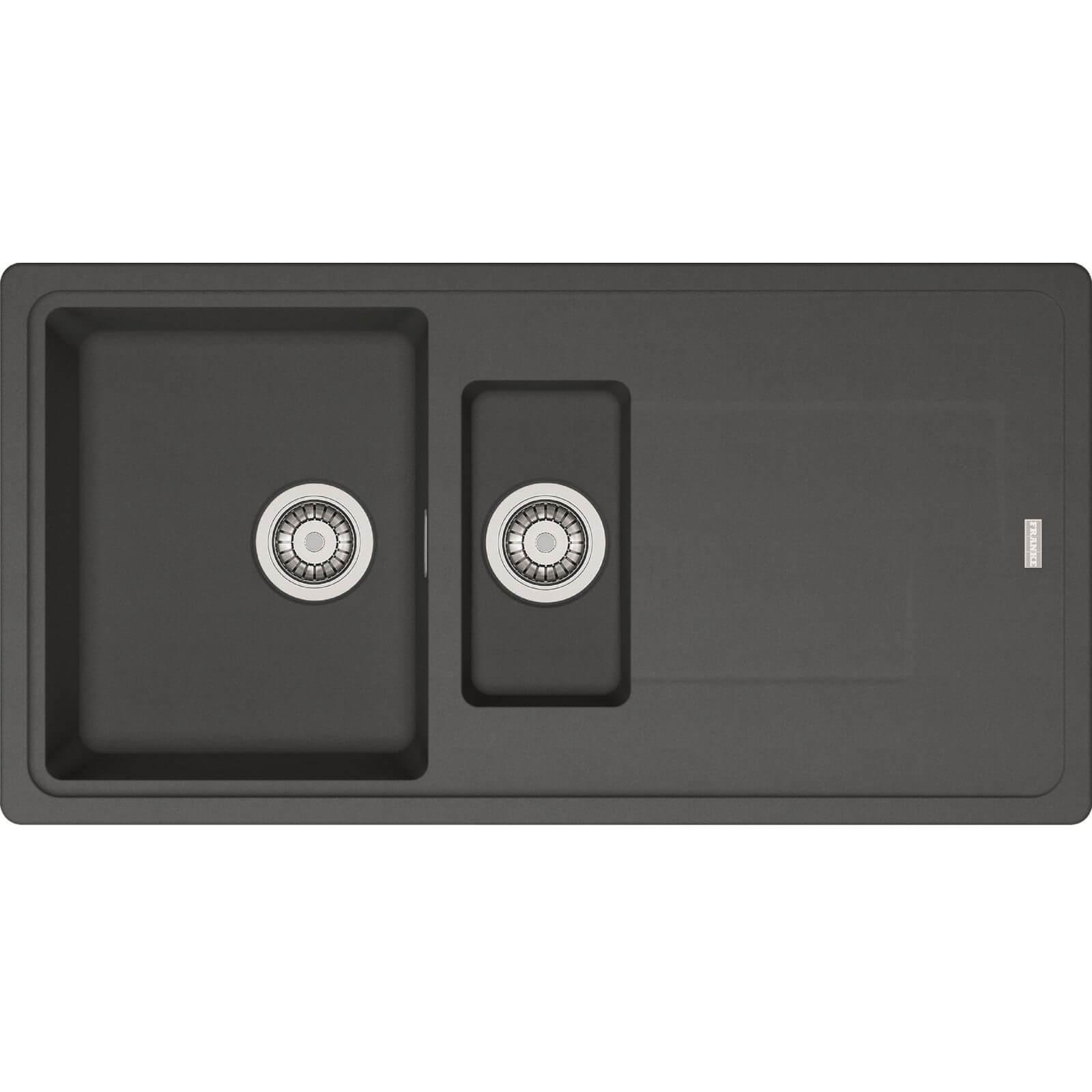 Franke Gemini Black Reversible Kitchen Sink - 1.5 Bowl