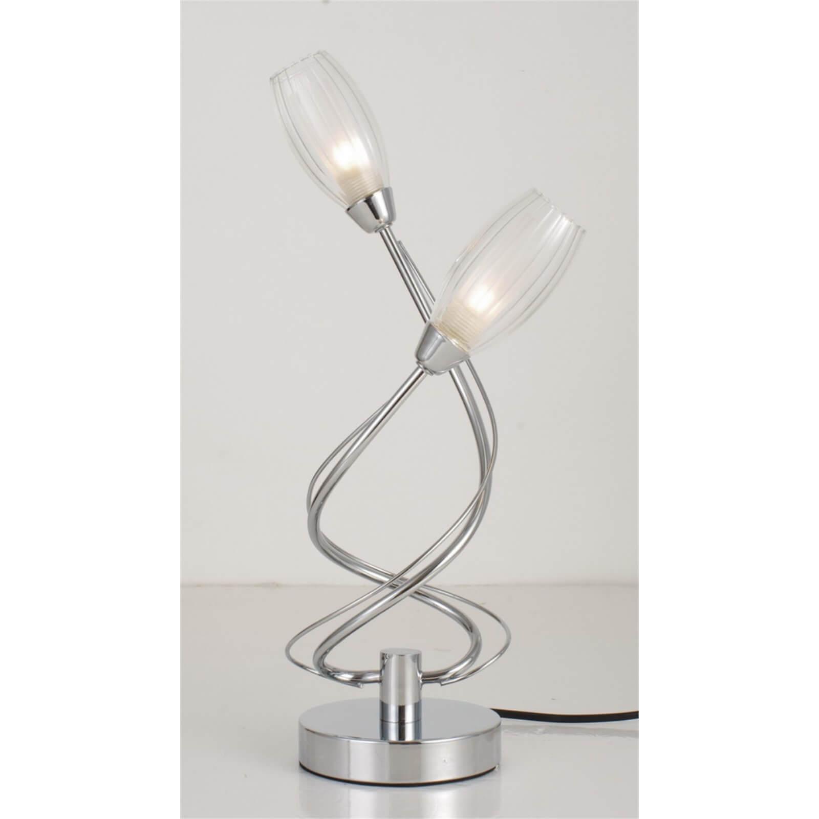 Estelle 2 Light Table Lamp - Chrome