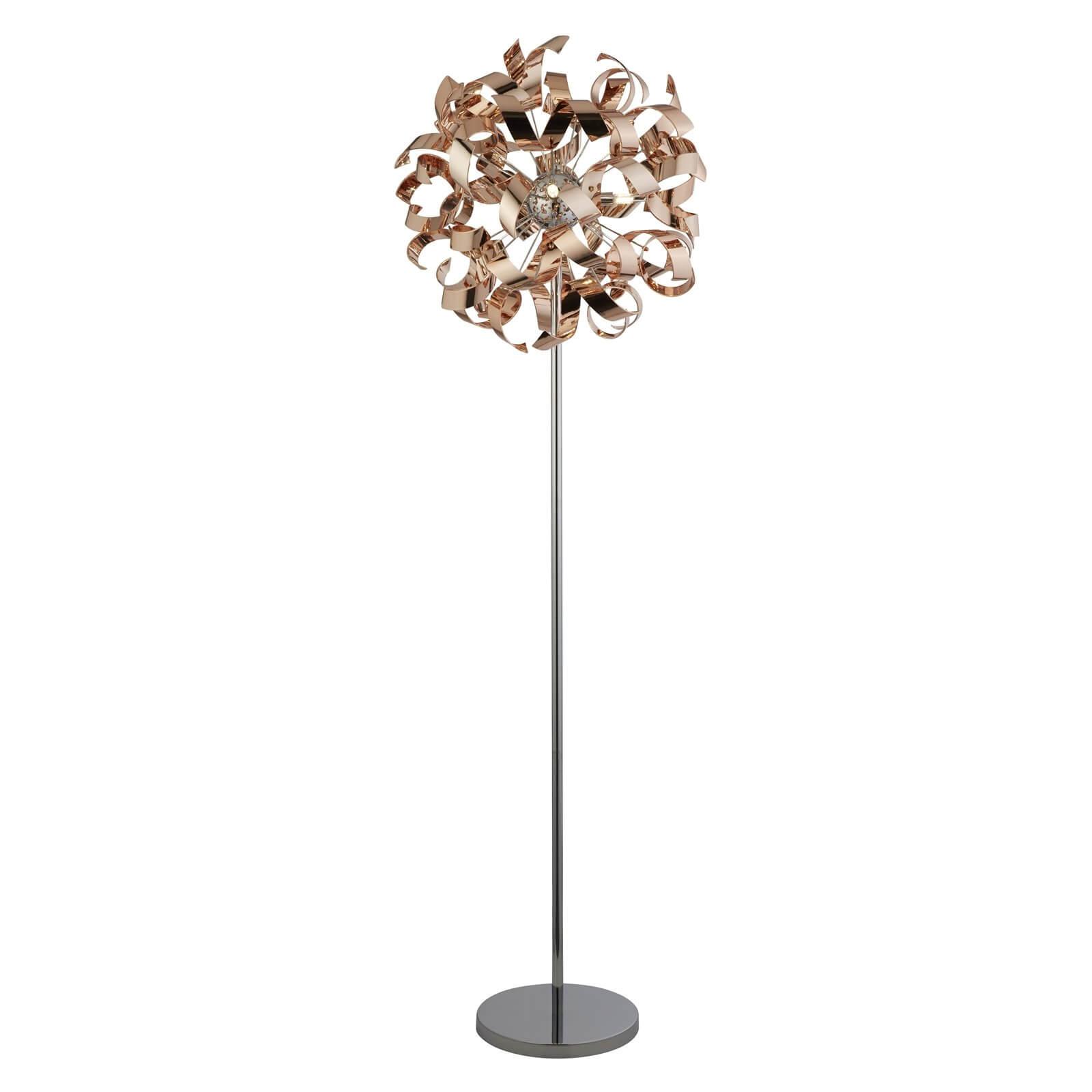 Sputnik Ribbon Floor Lamp - Copper