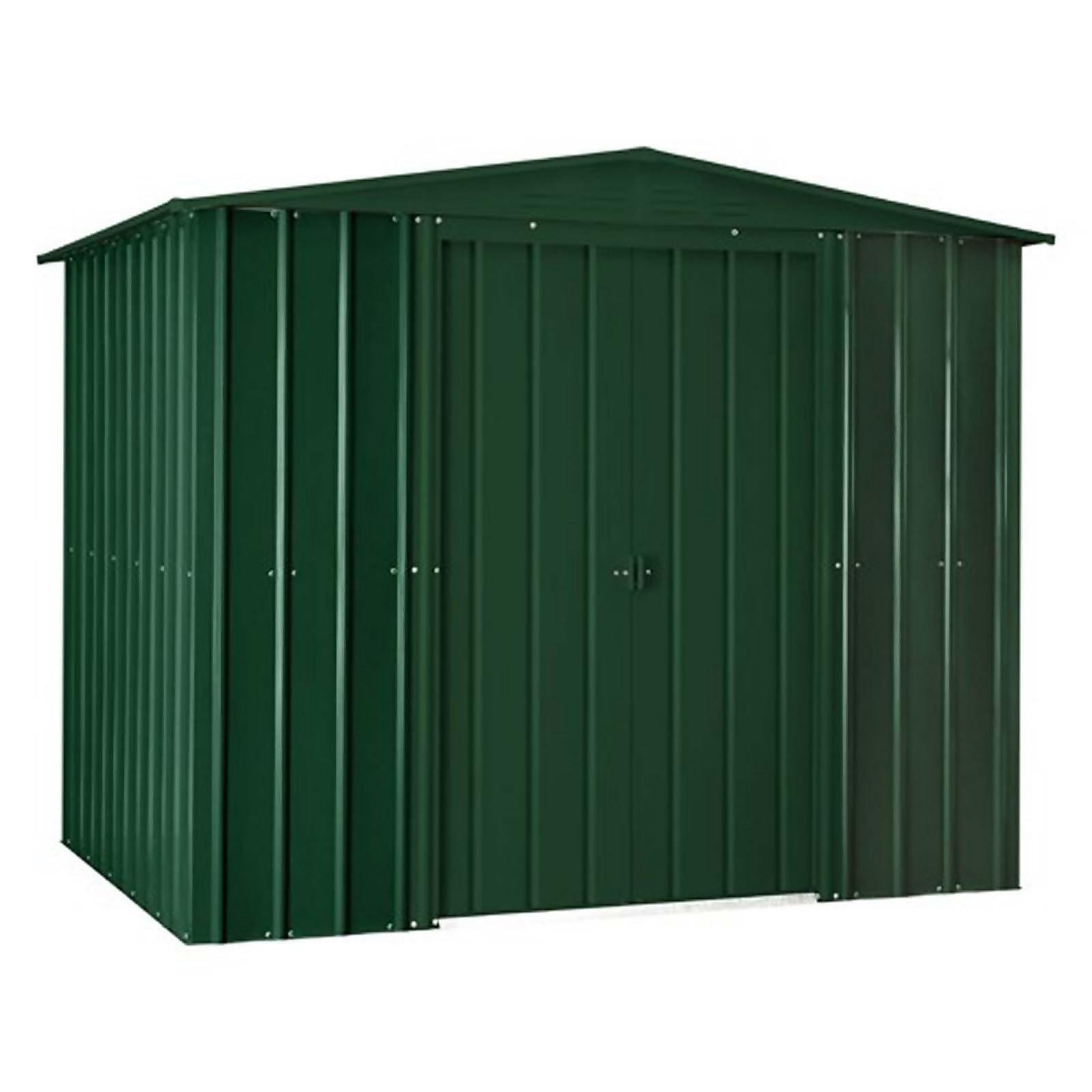 8x3ft Lotus Metal Shed Heritage Green