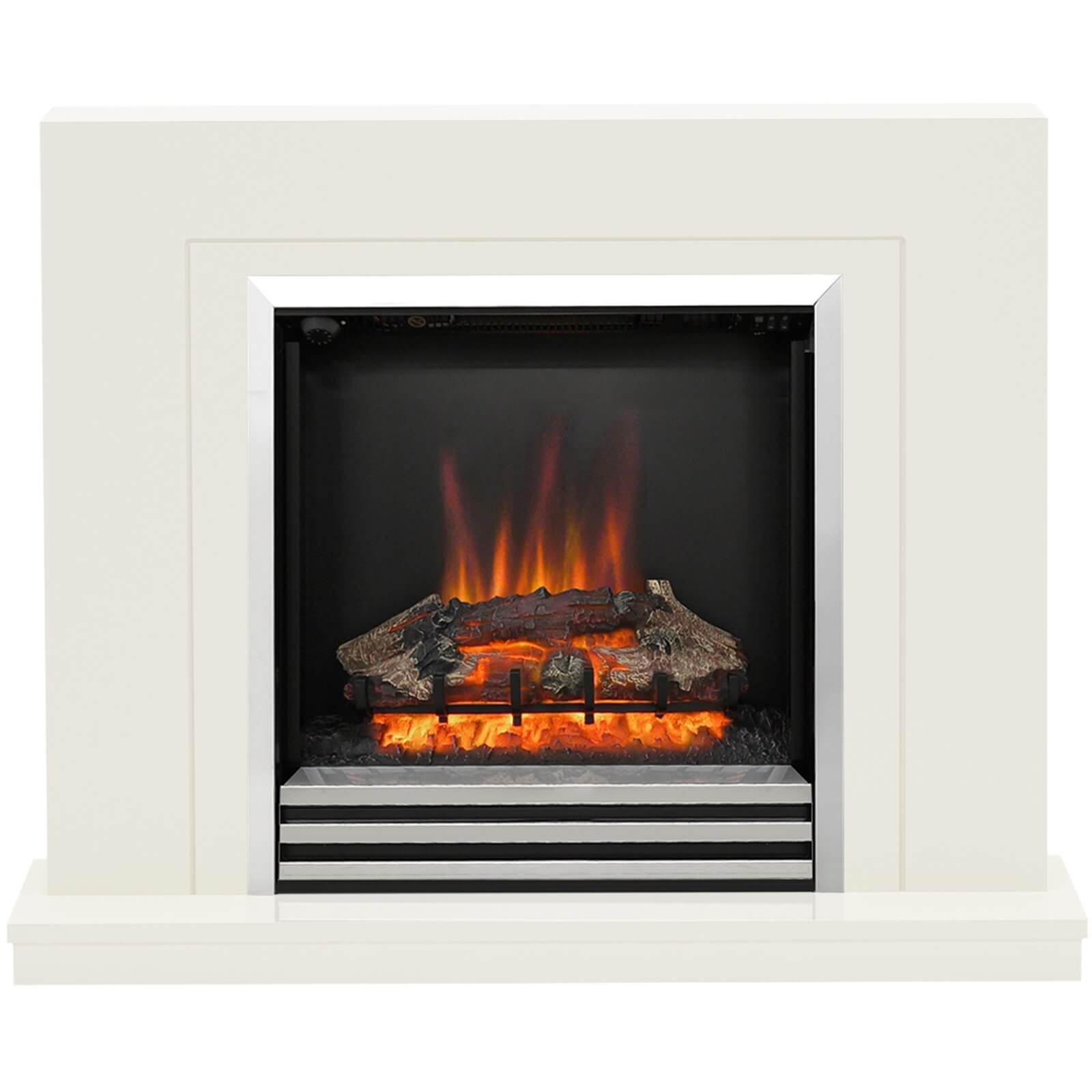 Be Modern Colby Electric Fireplace Suite - Soft White