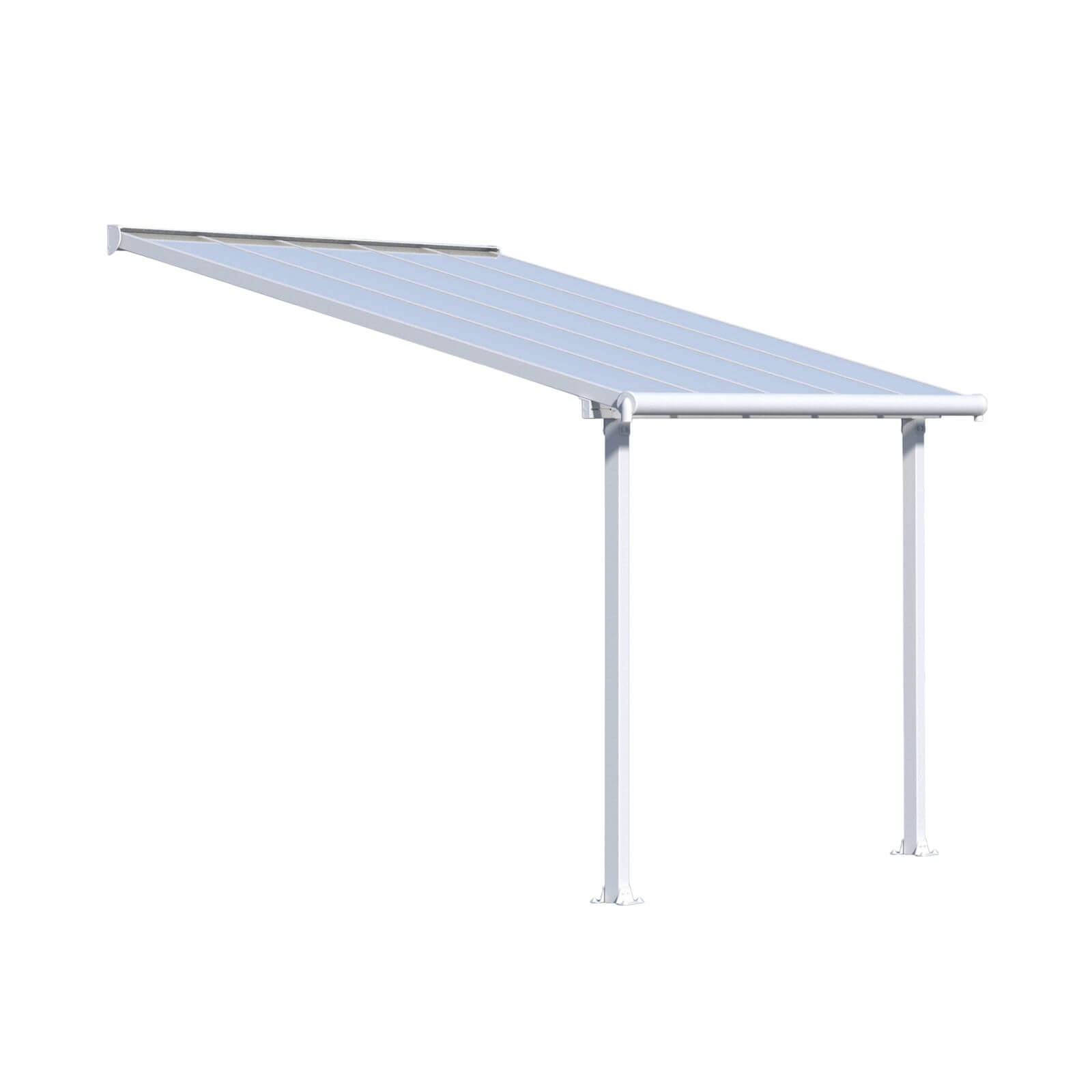 Palram - Canopia Olympia Patio Cover 3X3.05 White Clear