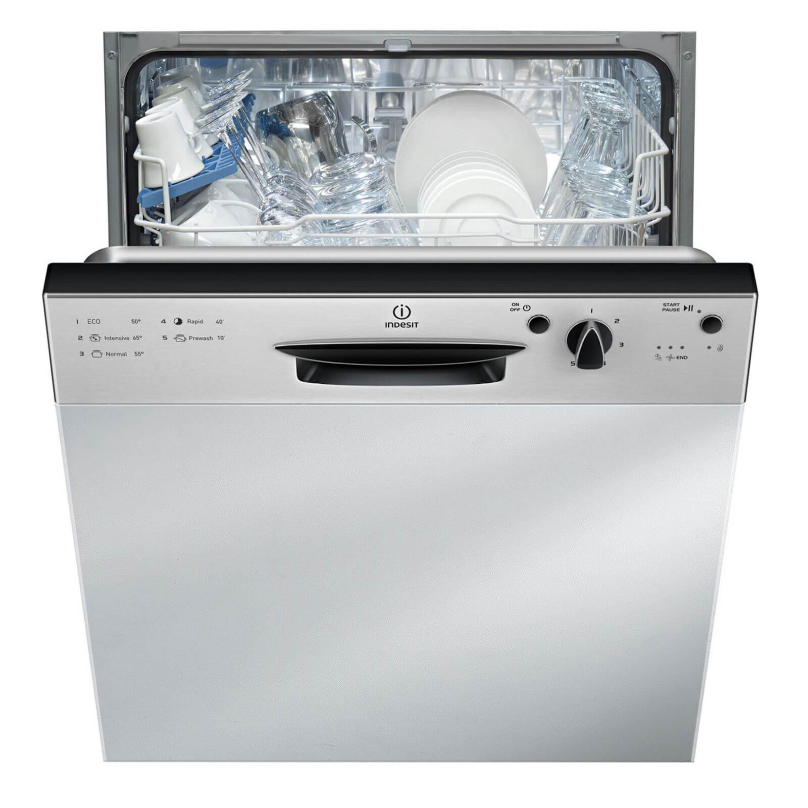 Indesit Ecotime DPG 15B1 NX Integrated Dishwasher - Silver