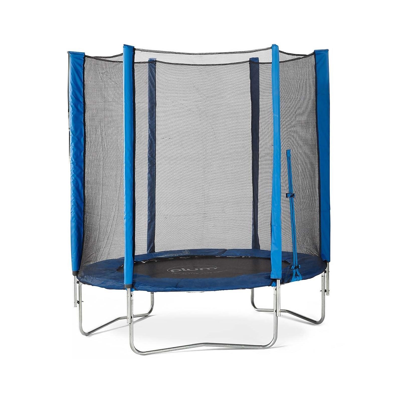 Plum 6ft Junior Trampoline & Enclosure - Blue