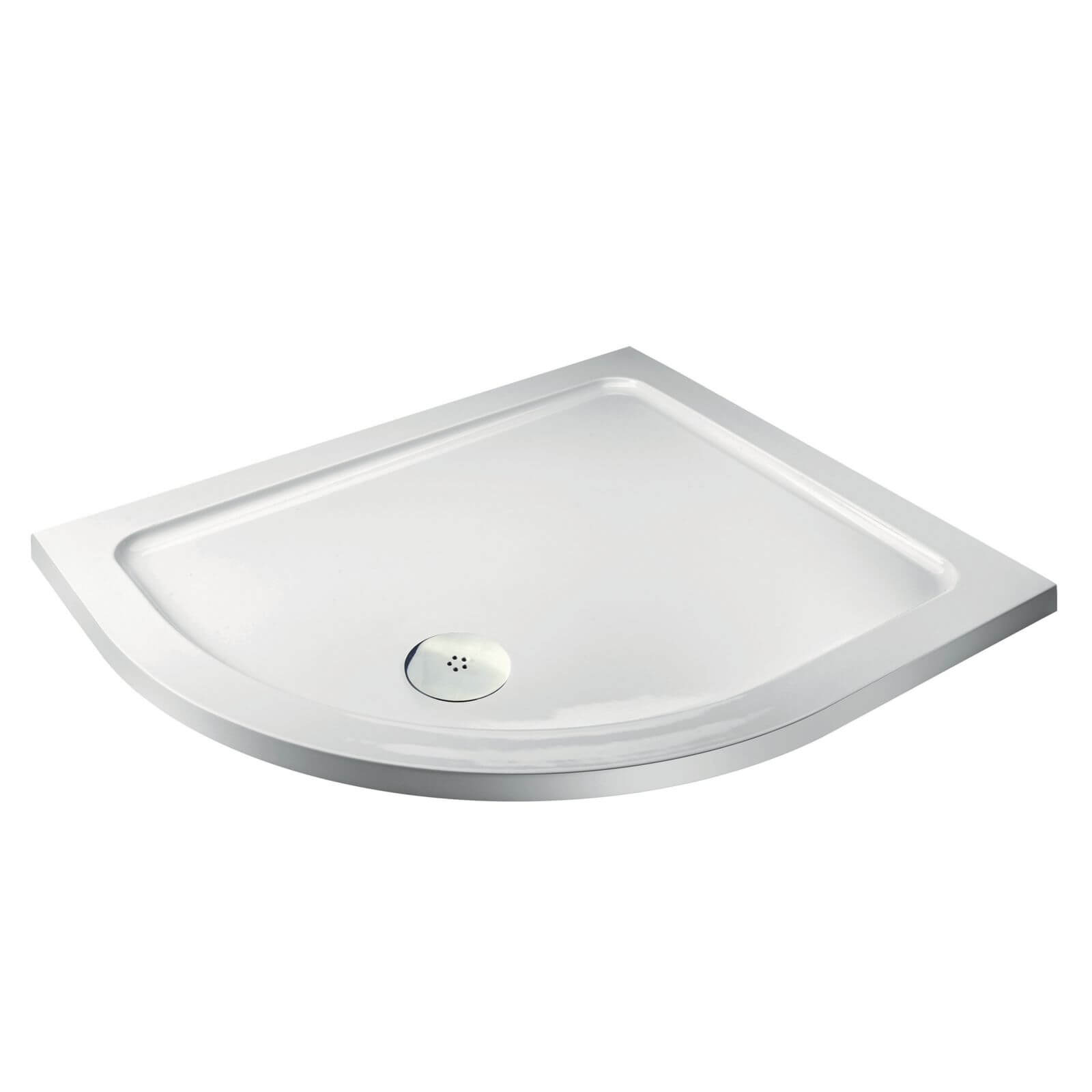 Aqualux Offset Quadrant LH Shower Tray - 1200 x 900 x 35mm