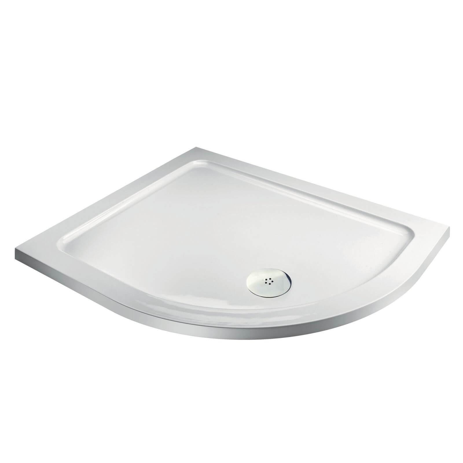 Aqualux Offset Quadrant RH Shower Tray - 1200 x 900 x 35mm