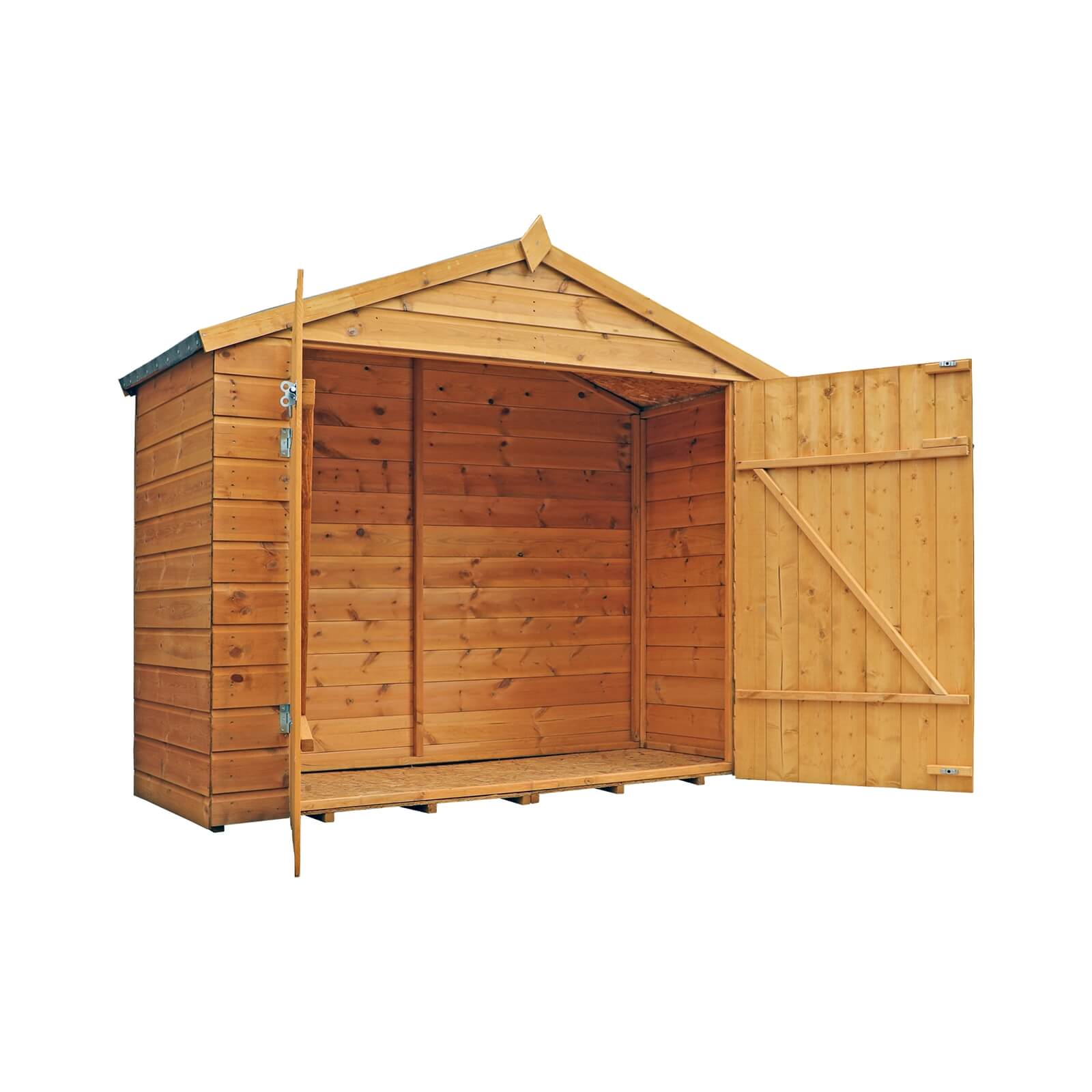 Mercia 7 x 3ft Overlap Apex Bike Shed (Installation Included)