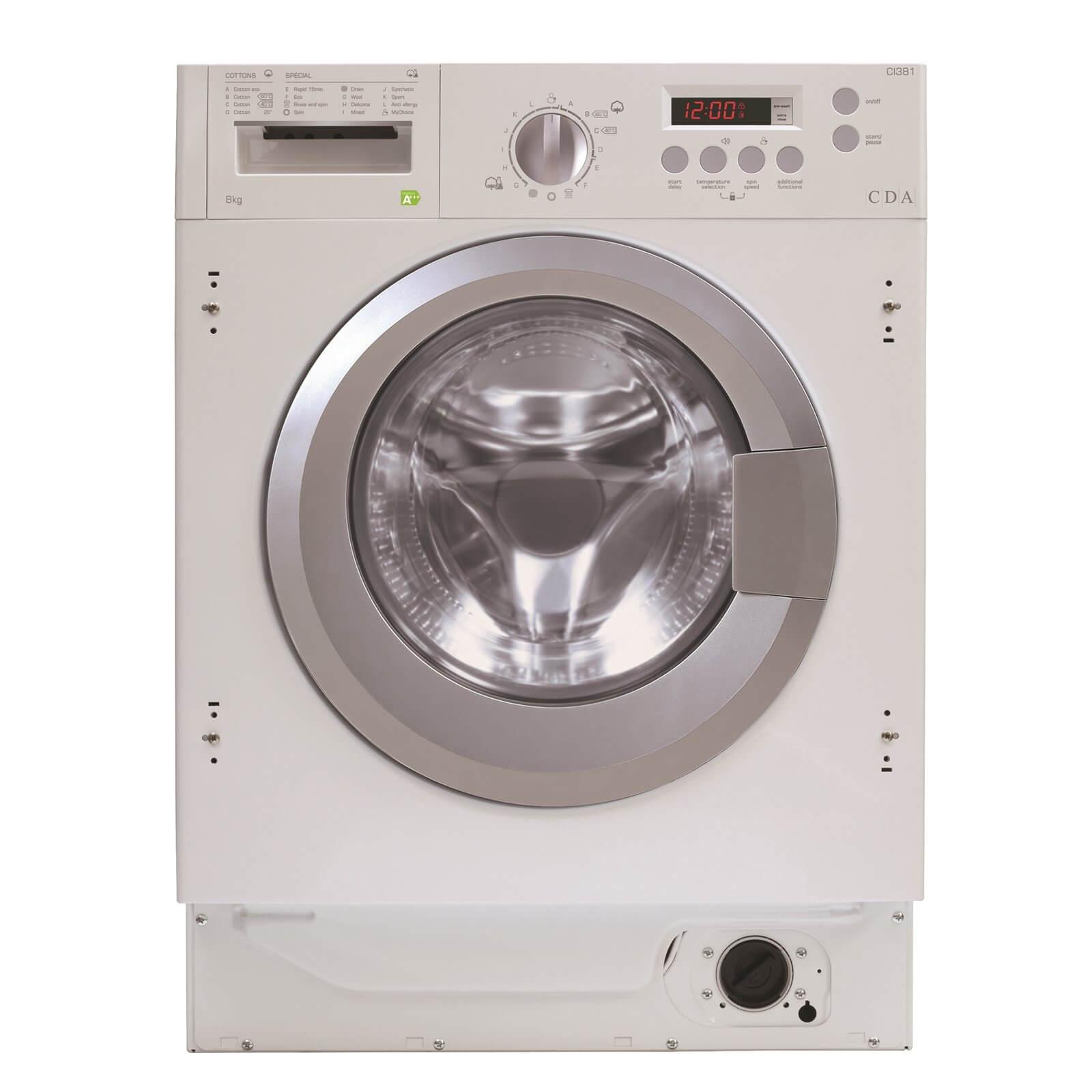 CDA CI381 Integrated 8kg Washing Machine