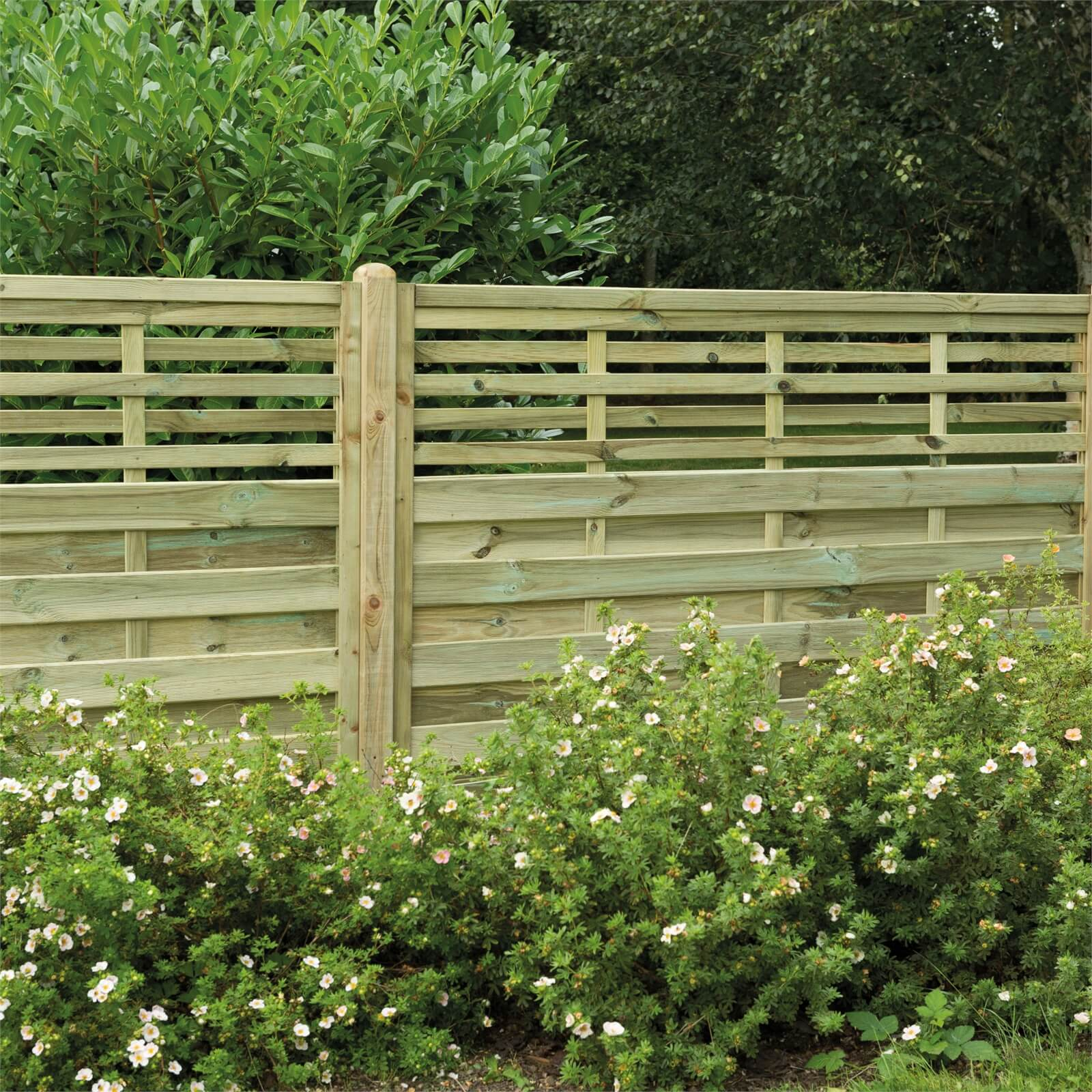 Forest Kyoto Fence Panel - 4ft - Pack of 3