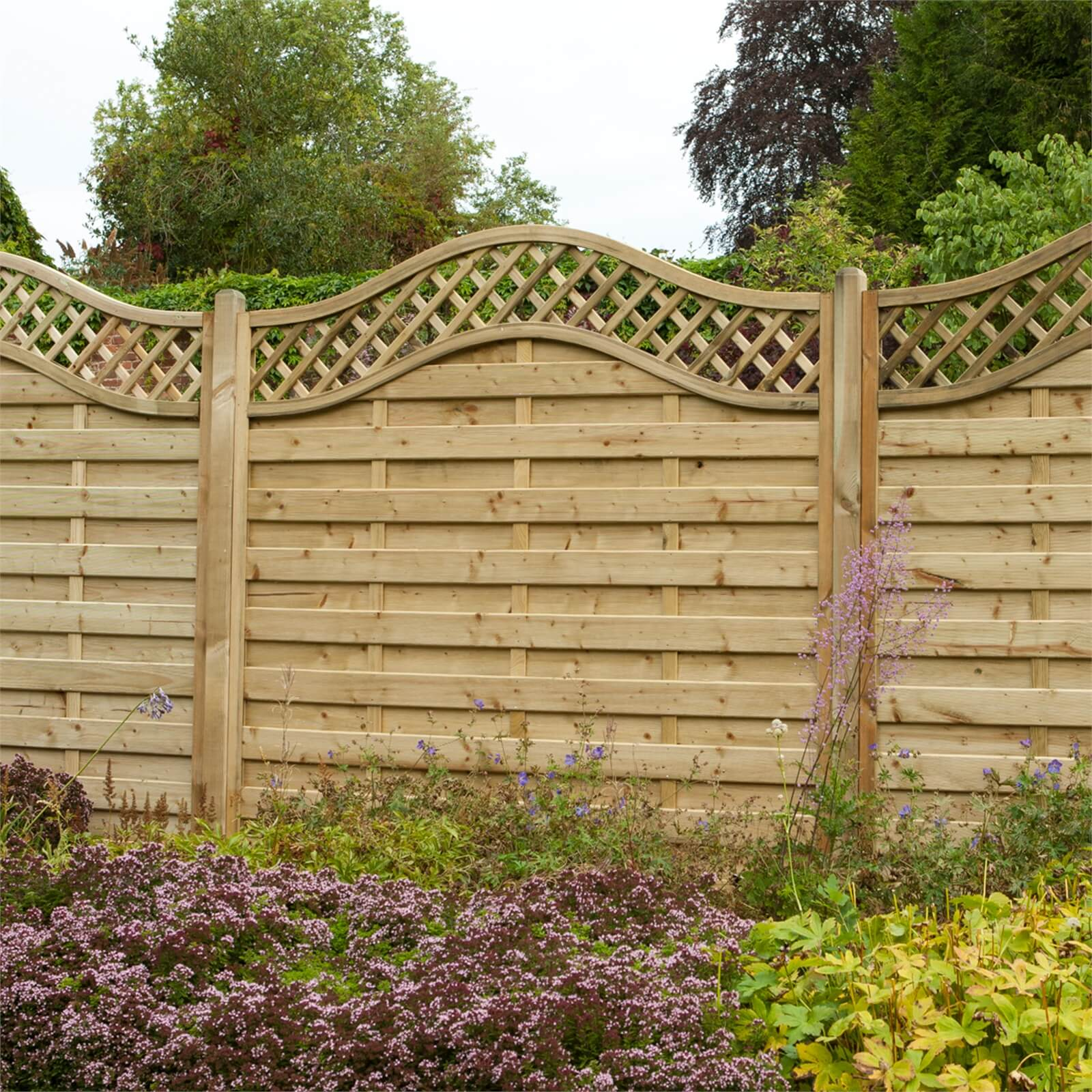 Forest Prague Fence Panel - 5ft - Pack of 3