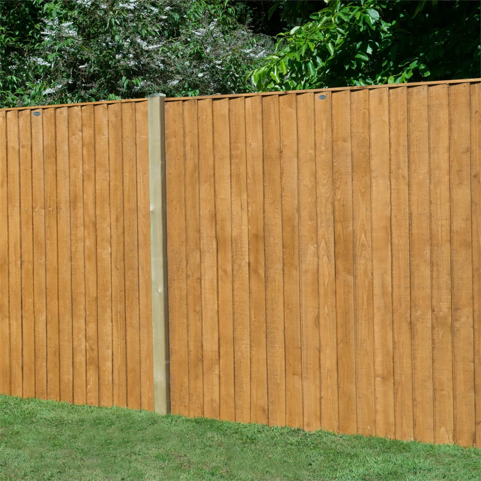 Forest Featherdge Fence Panel - 6ft - Pack of 3