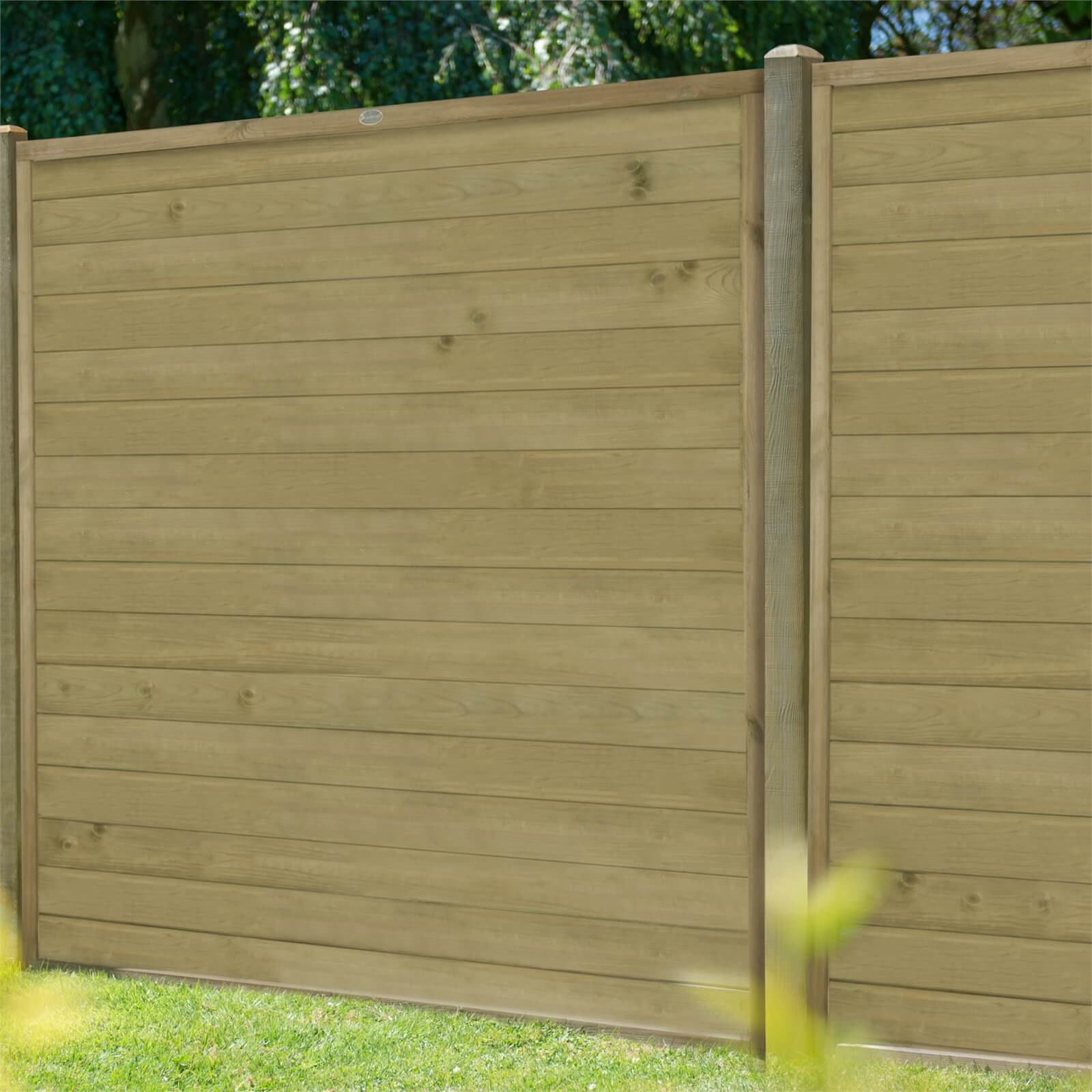 Horizontal Tongue & Groove Fence Panel - 6ft - Pack of 3