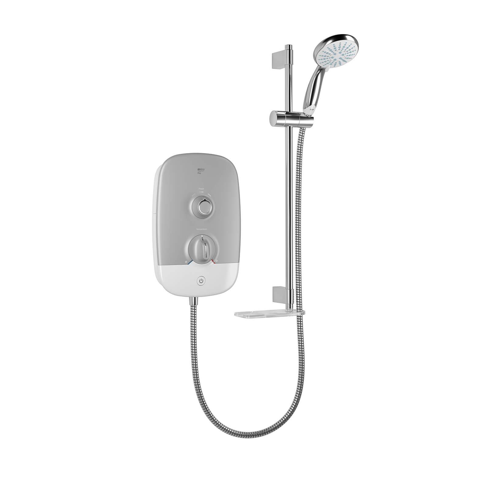 Mira Play 10.8kW Electric Shower - Satin/Chrome
