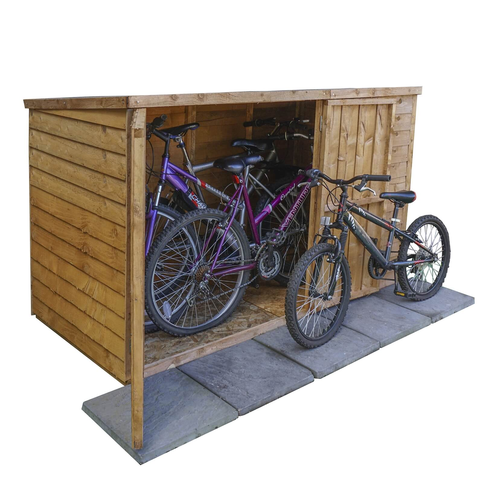 Mercia (Installation Included) 6x3ft Overlap Pent Bike Shed