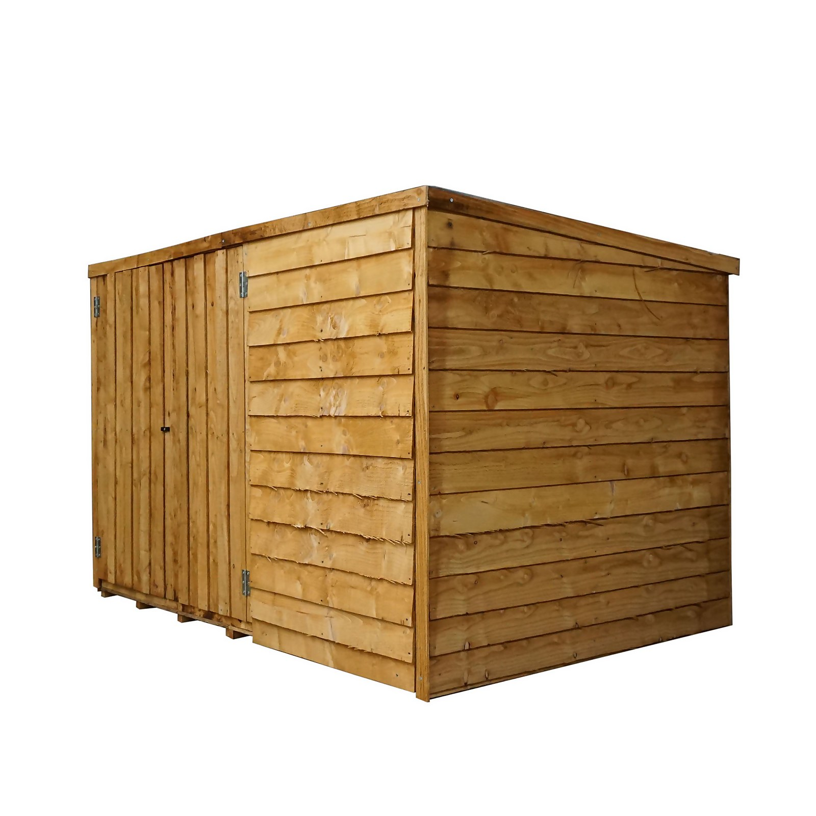 Mercia (Installation Included) 6x4ft Overlap Pent Bike Shed