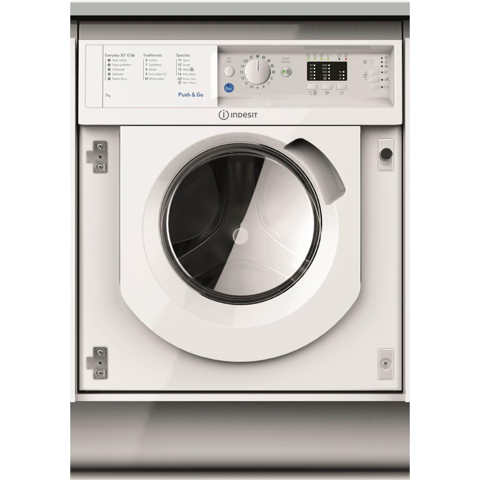 Indesit BI WMIL 71452 UK Integrated Washing Machine - White