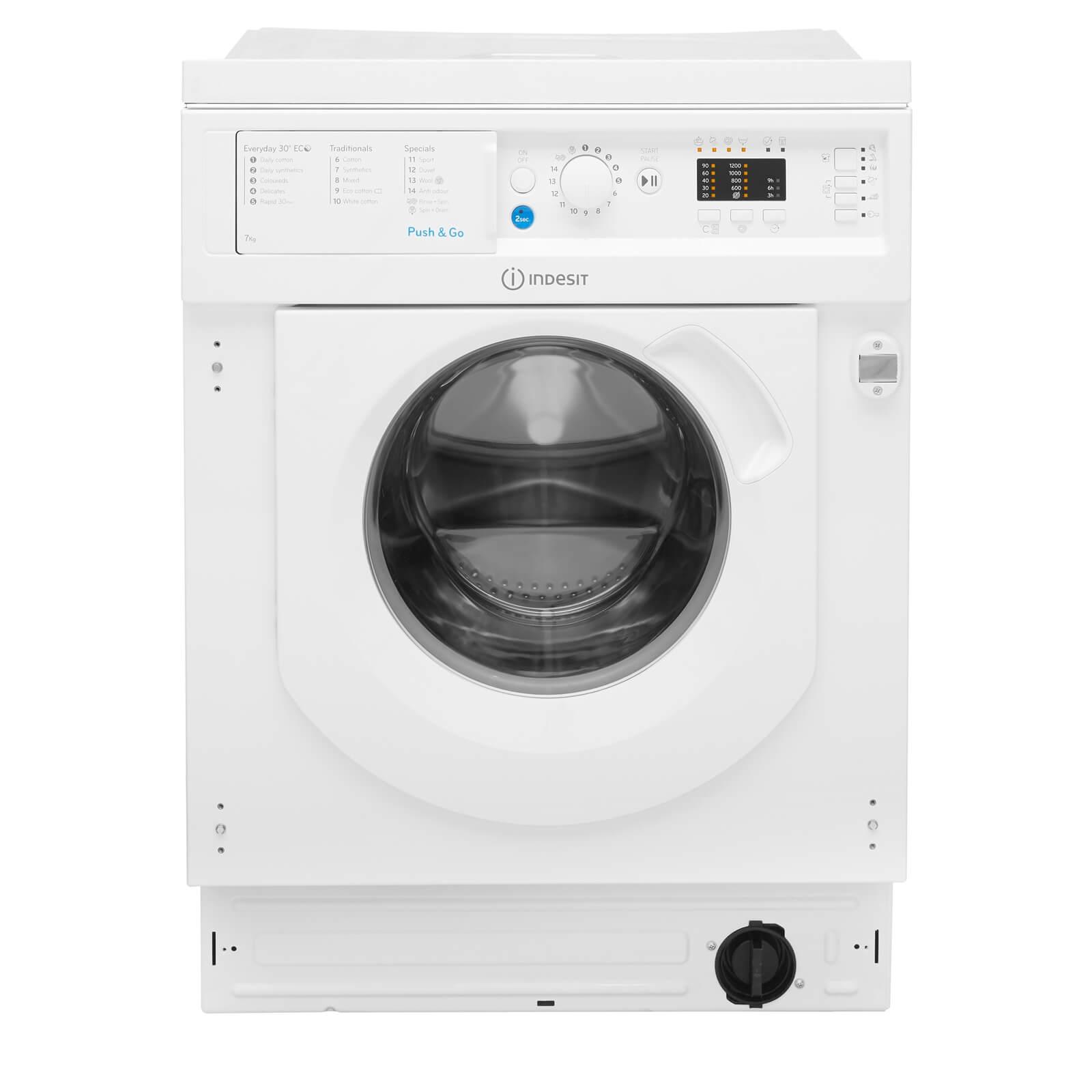 Indesit BI WMIL 71252 UK Integrated Washing Machine - White