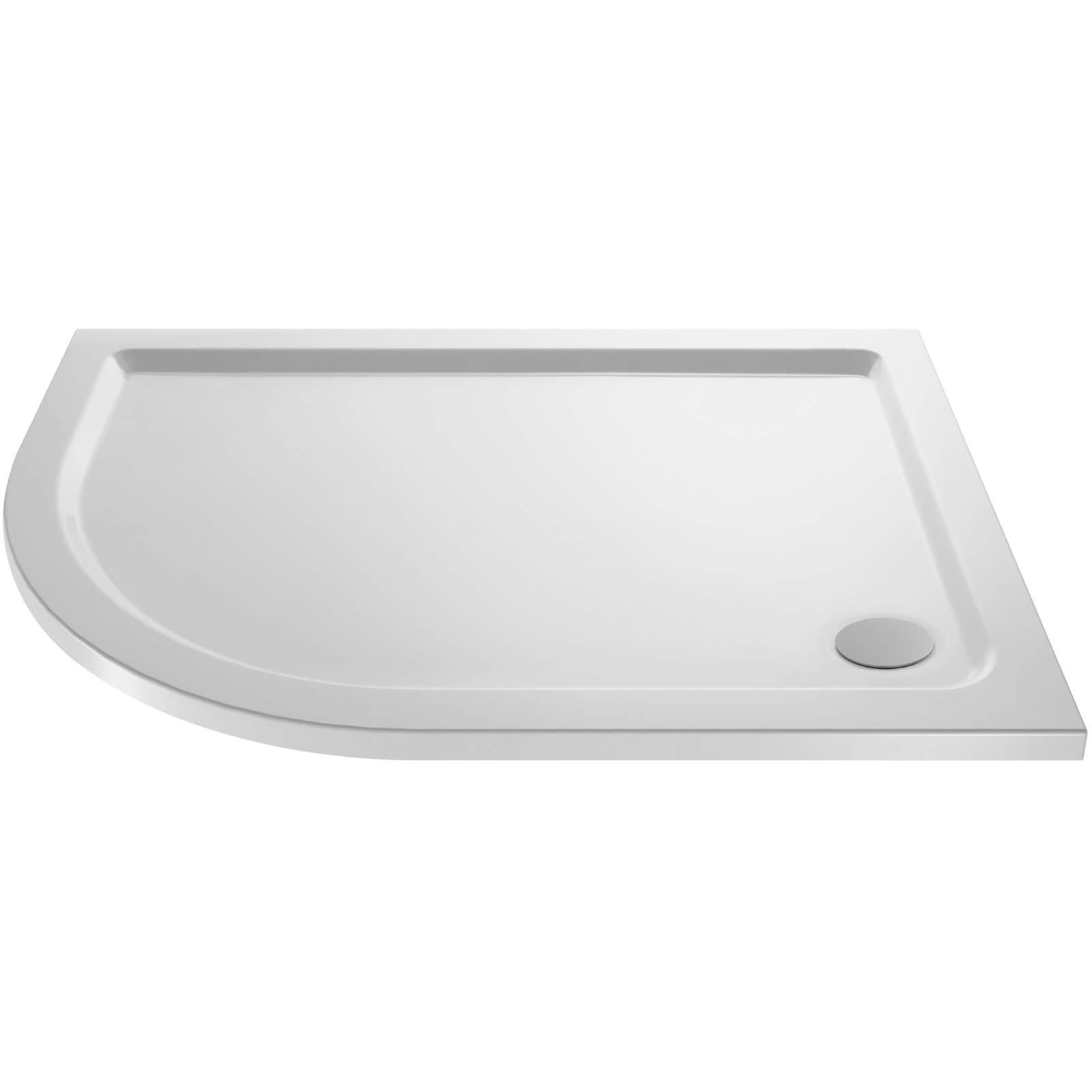 Balterley Left Hand Offset Quadrant Shower Tray - 900 x 800mm