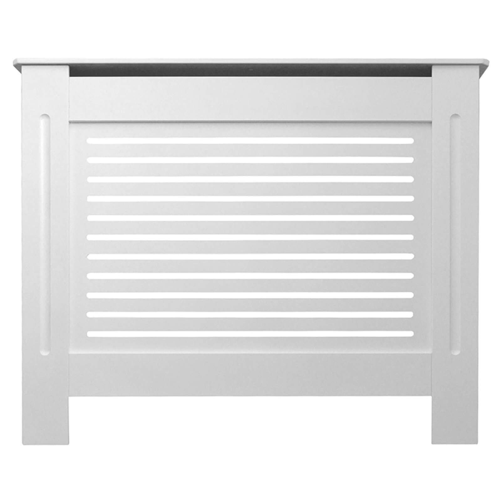 Horizontal White Radiator Cover - Small