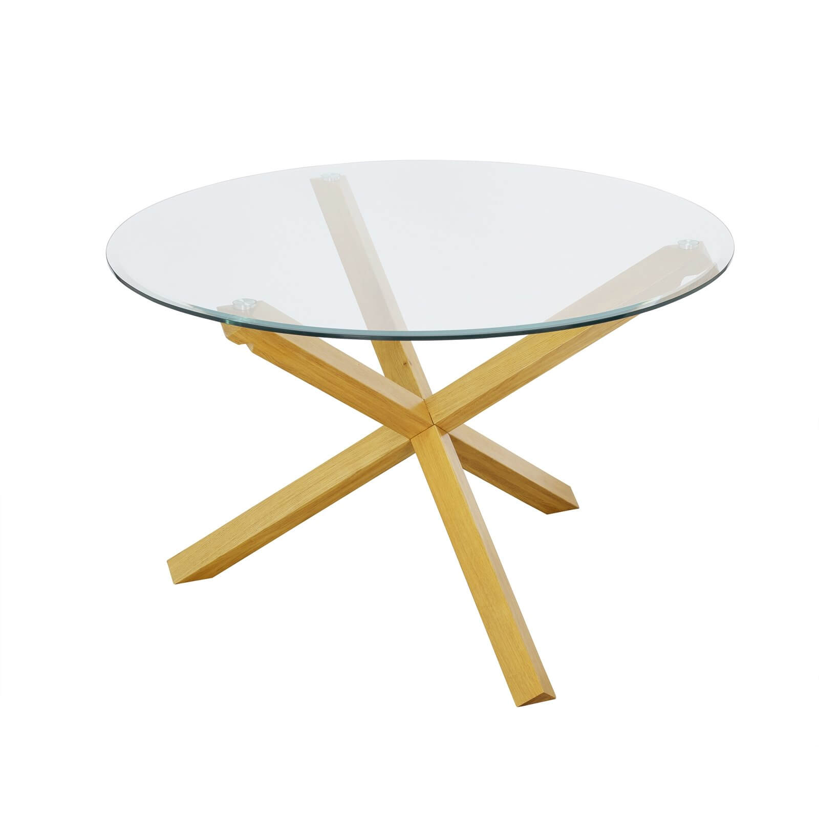 Oporto Large Dining Table - Oak & Glass