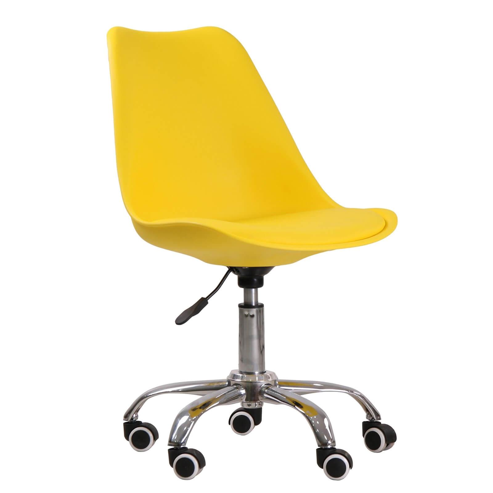 Orsen Swivel Office Chair - Yellow