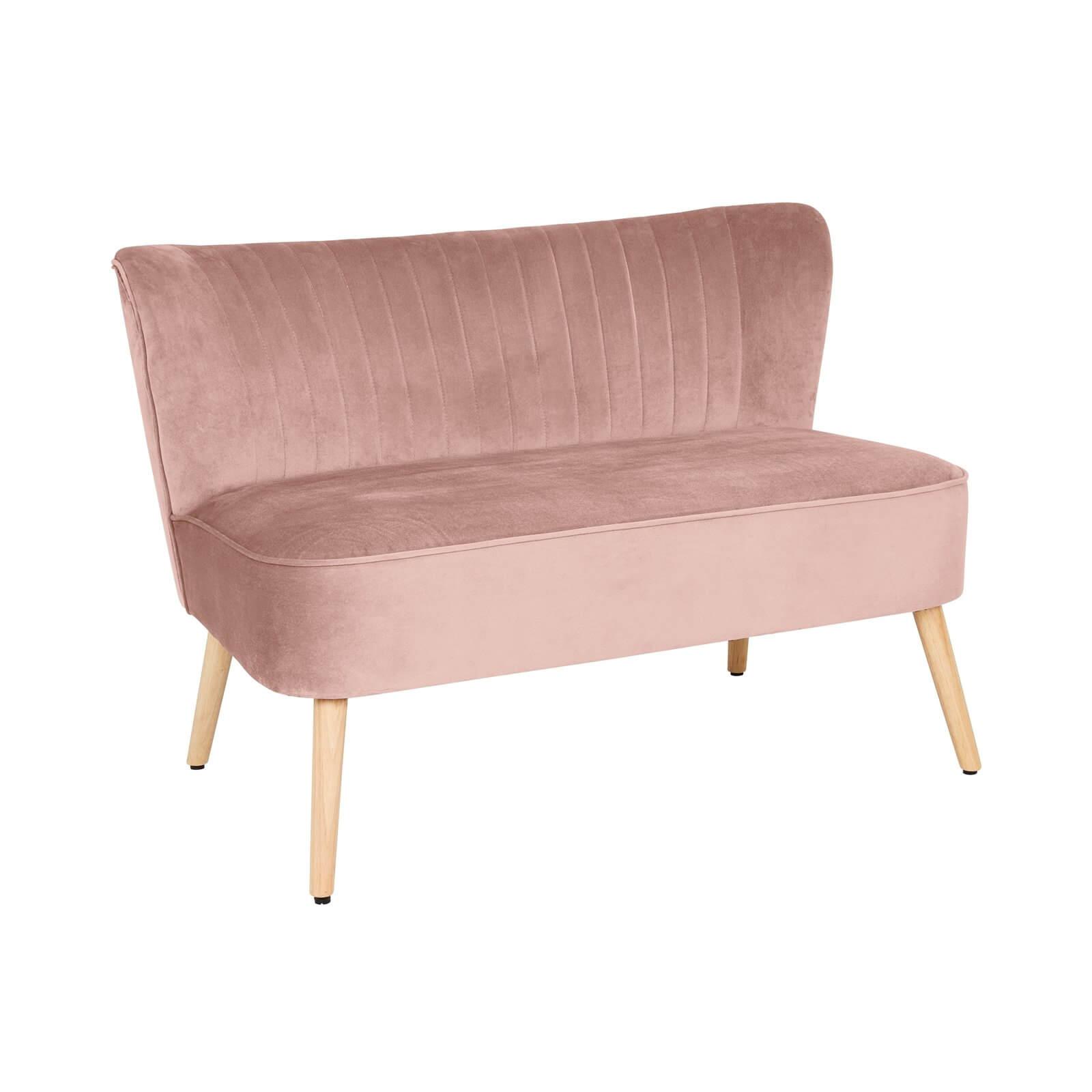 The Cocktail Sofa - Dark Blush