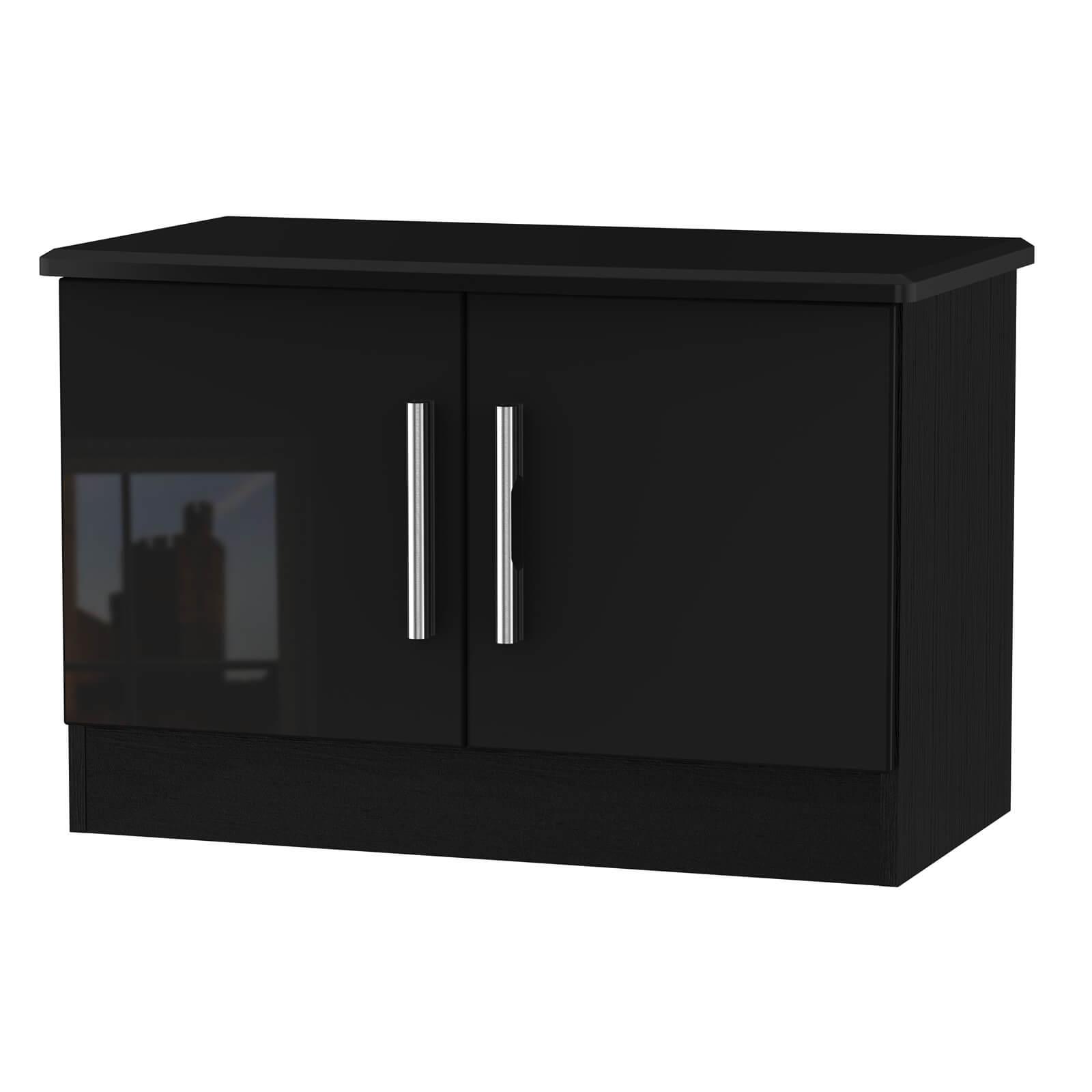 Kensington Low 2 Door Sideboard - Black