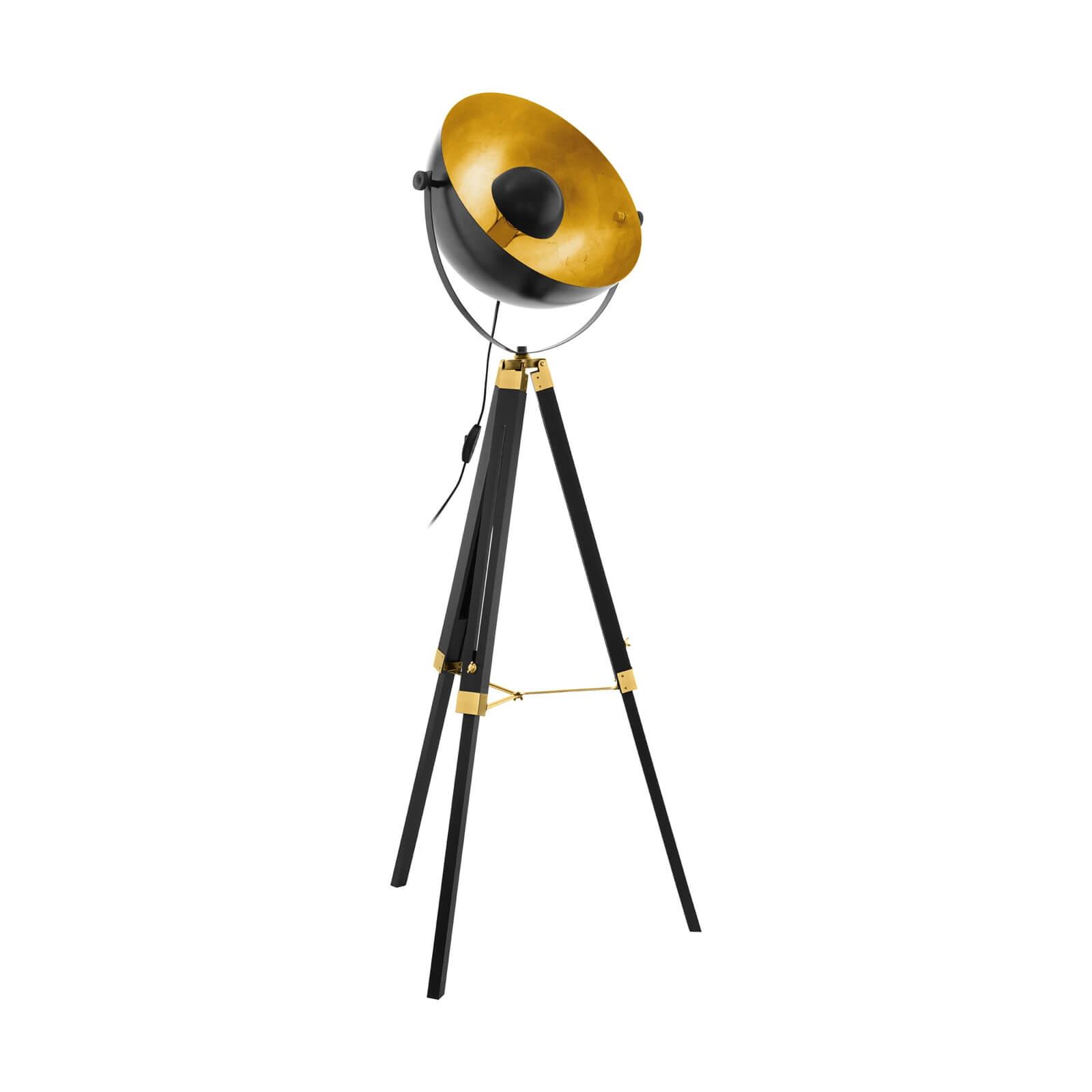 Eglo Covaleda Tripod Floor Lamp - Black & Gold