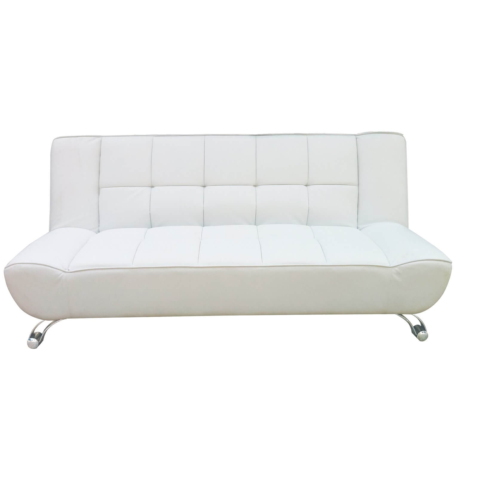 Vogue Sofa Bed - White - Faux Leather
