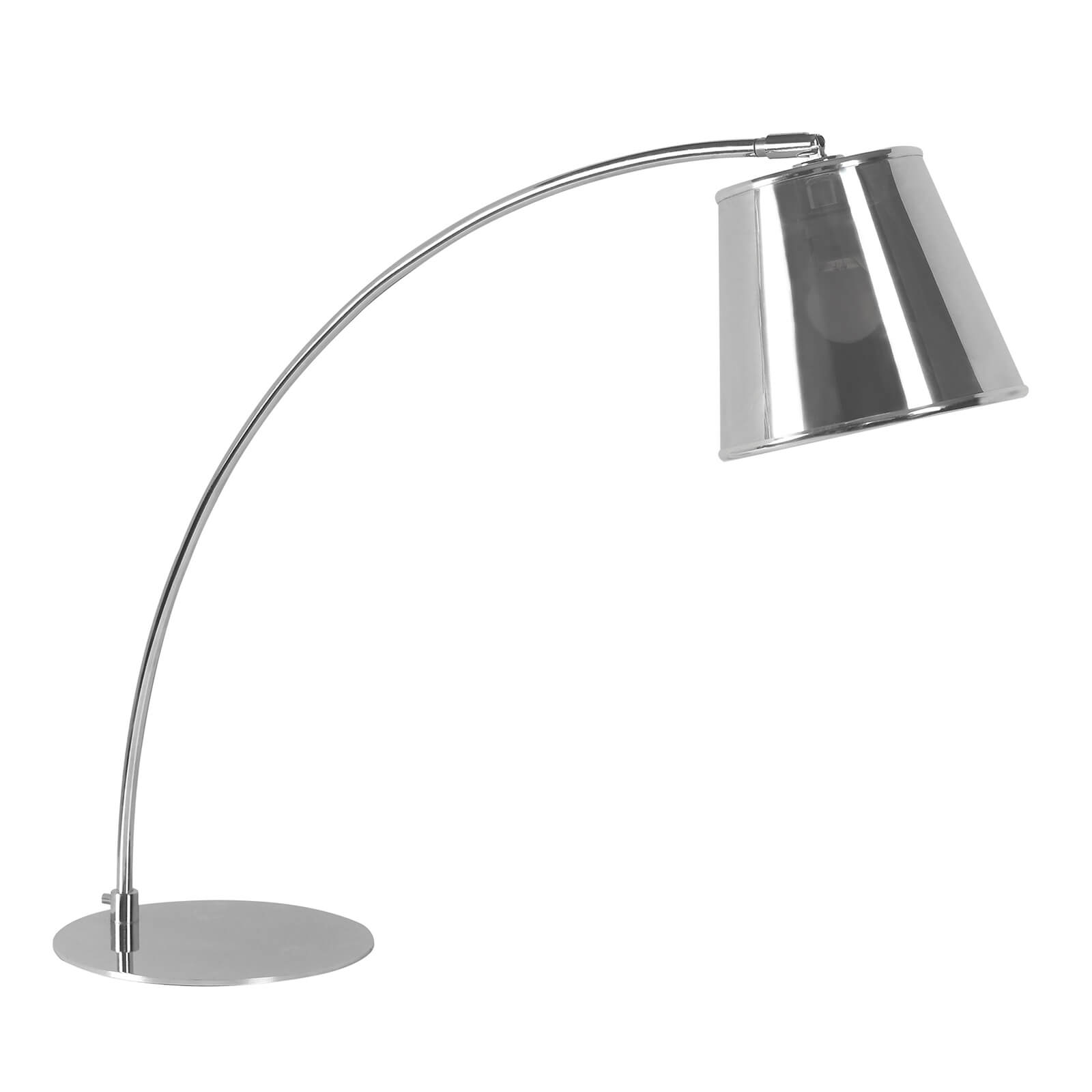 Chrome Table Lamp with PVC Shade
