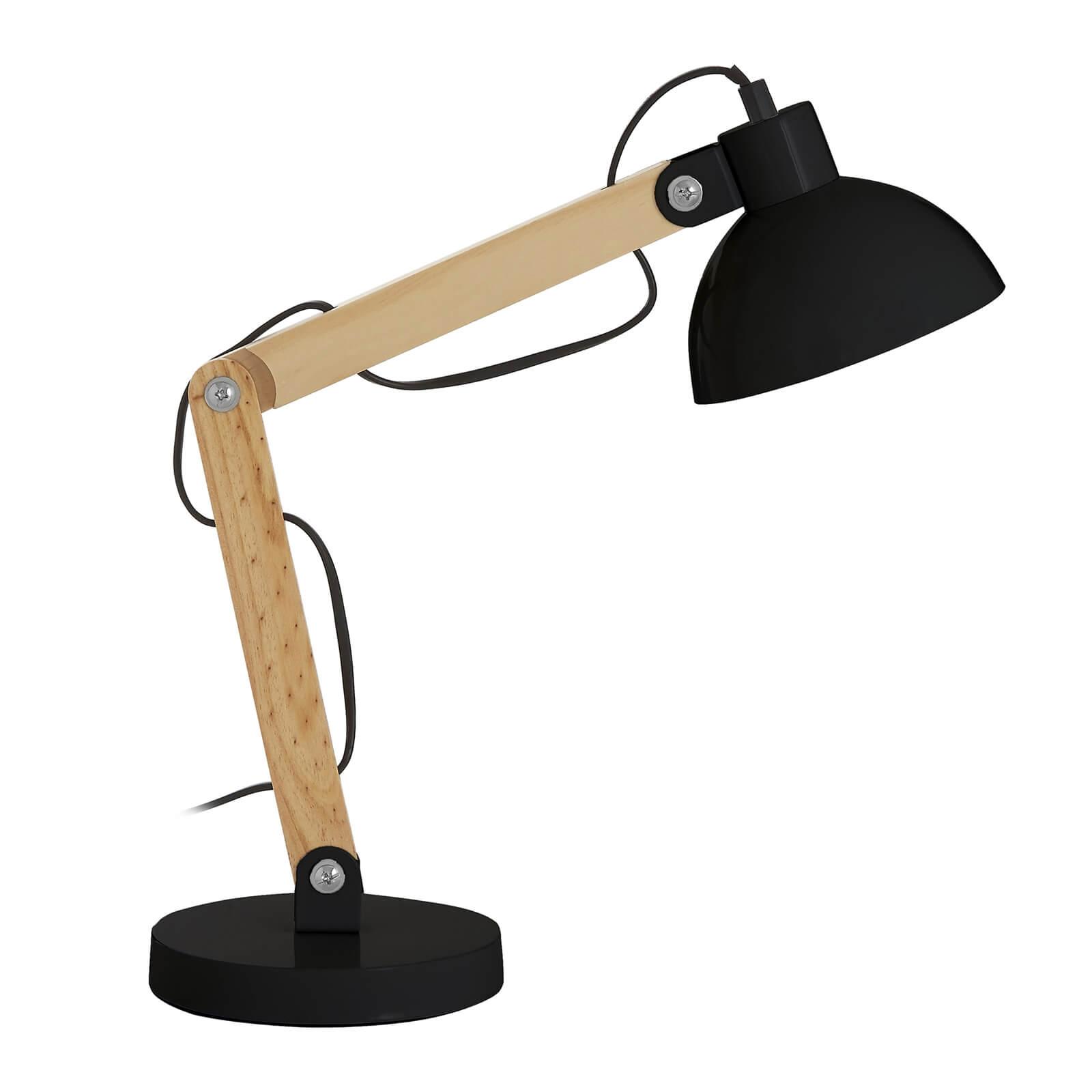Blake Black Wood Table Lamp