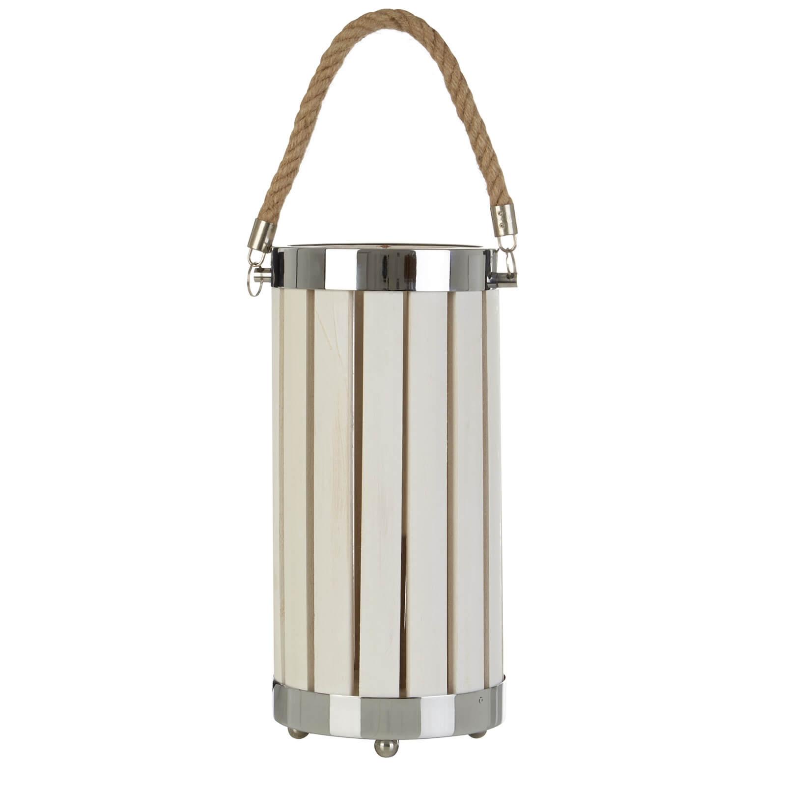 Brooke White Wood Table Lamp
