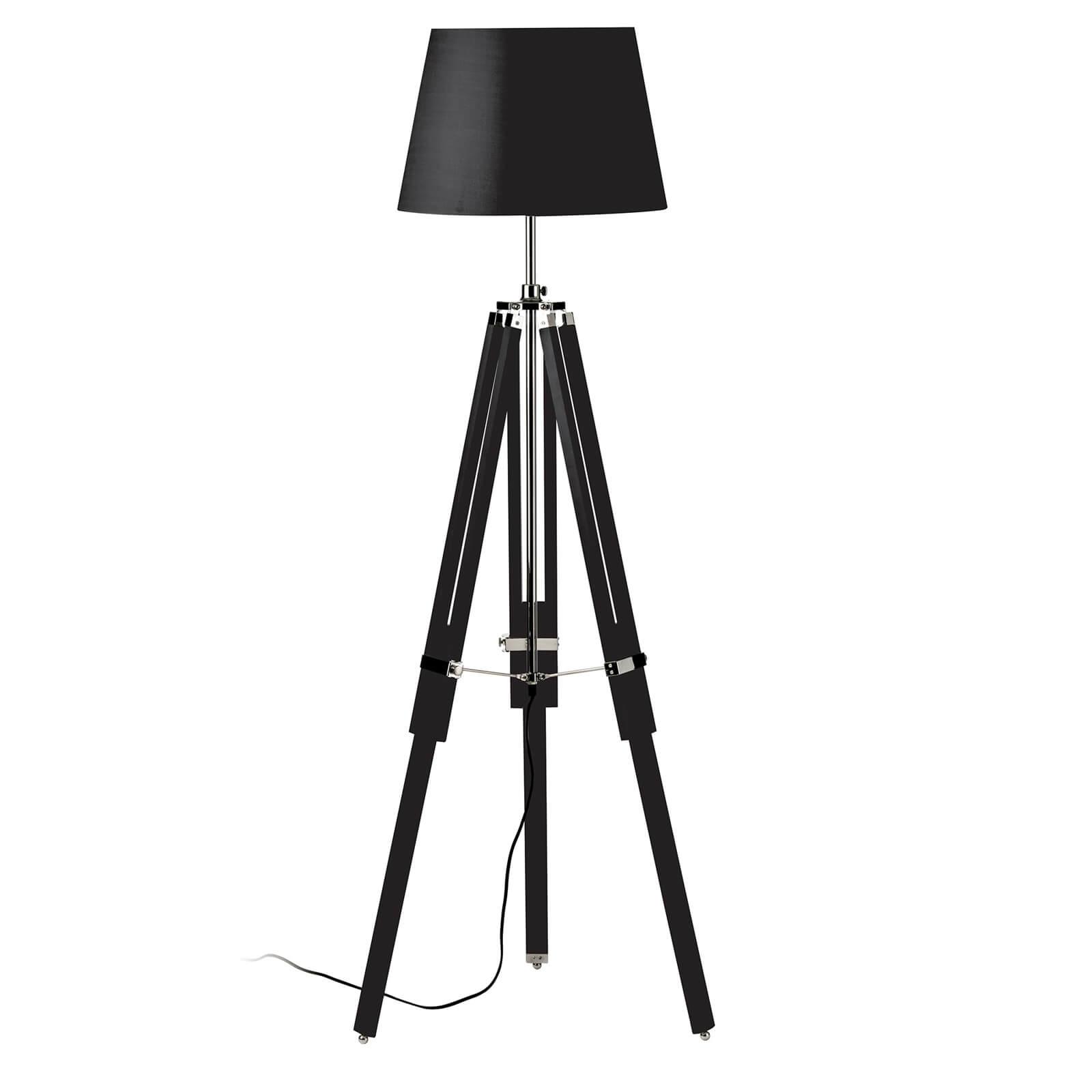 Jasper Black Tripod Base Floor Lamp