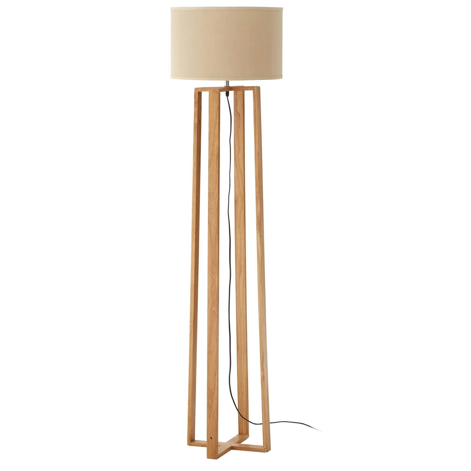 Lea Wooden Floor Lamp