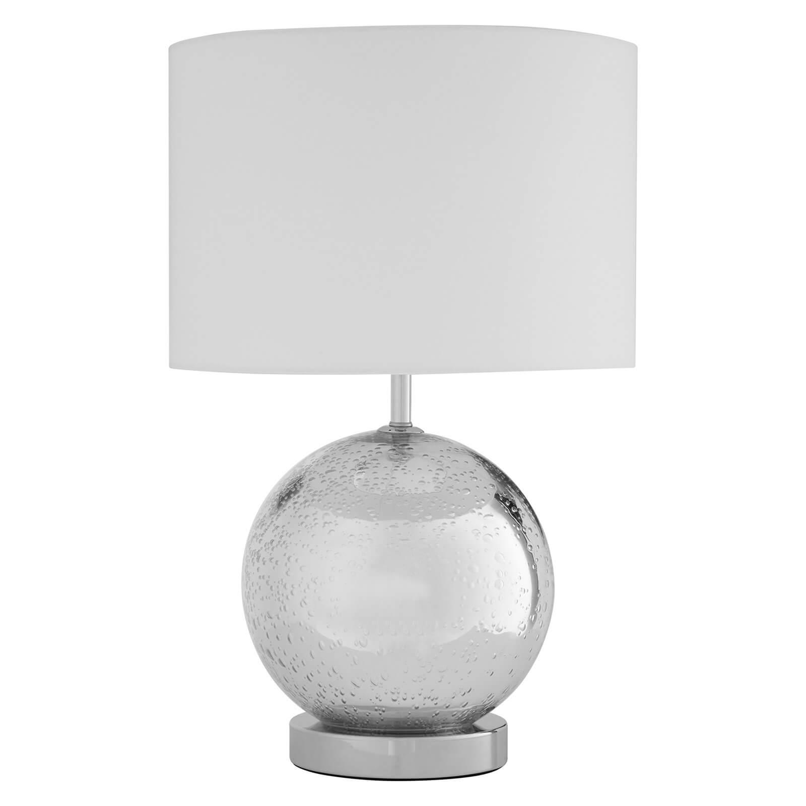 Naomi White Fabric Shade Table Lamp