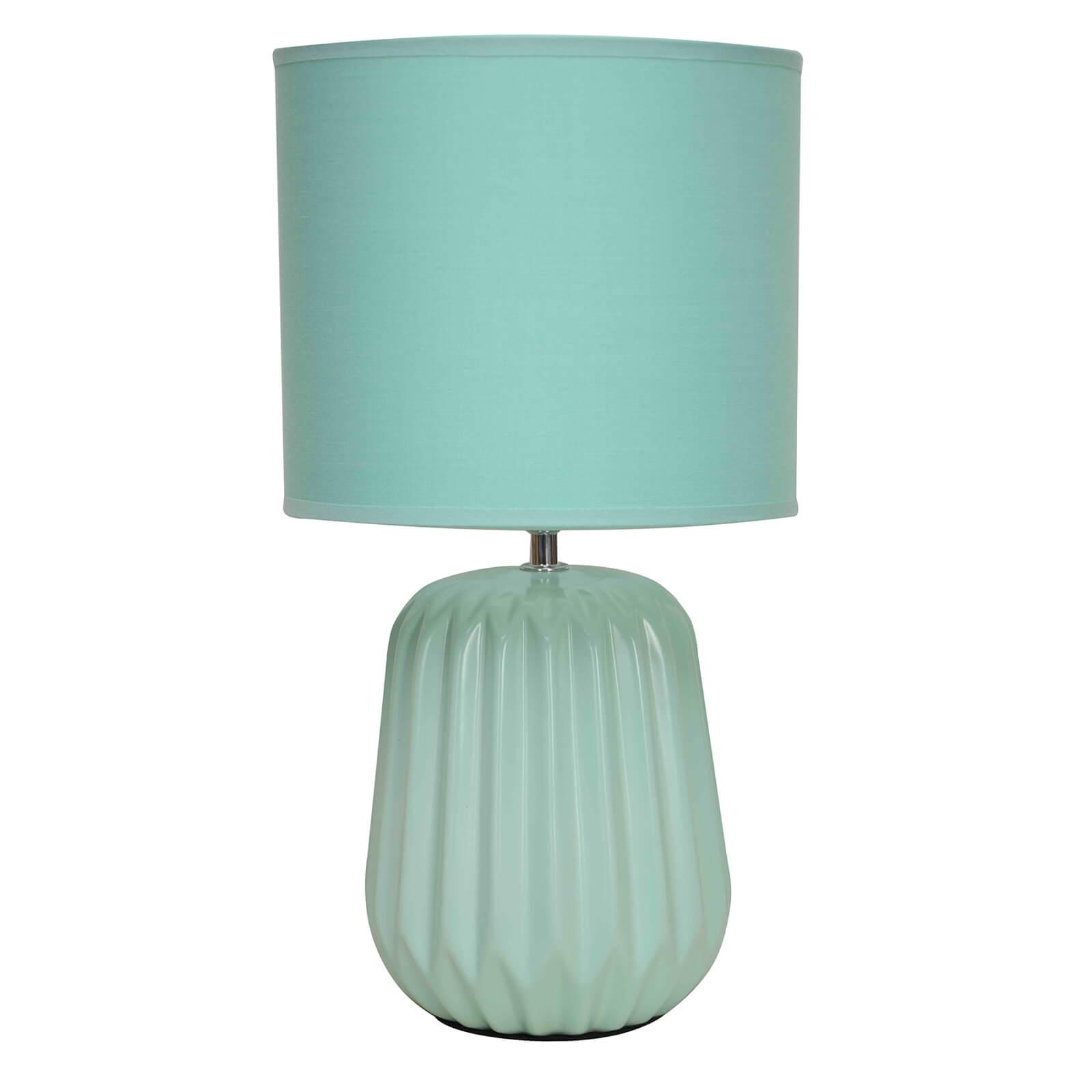 Winola Turquoise Ceramic Table Lamp