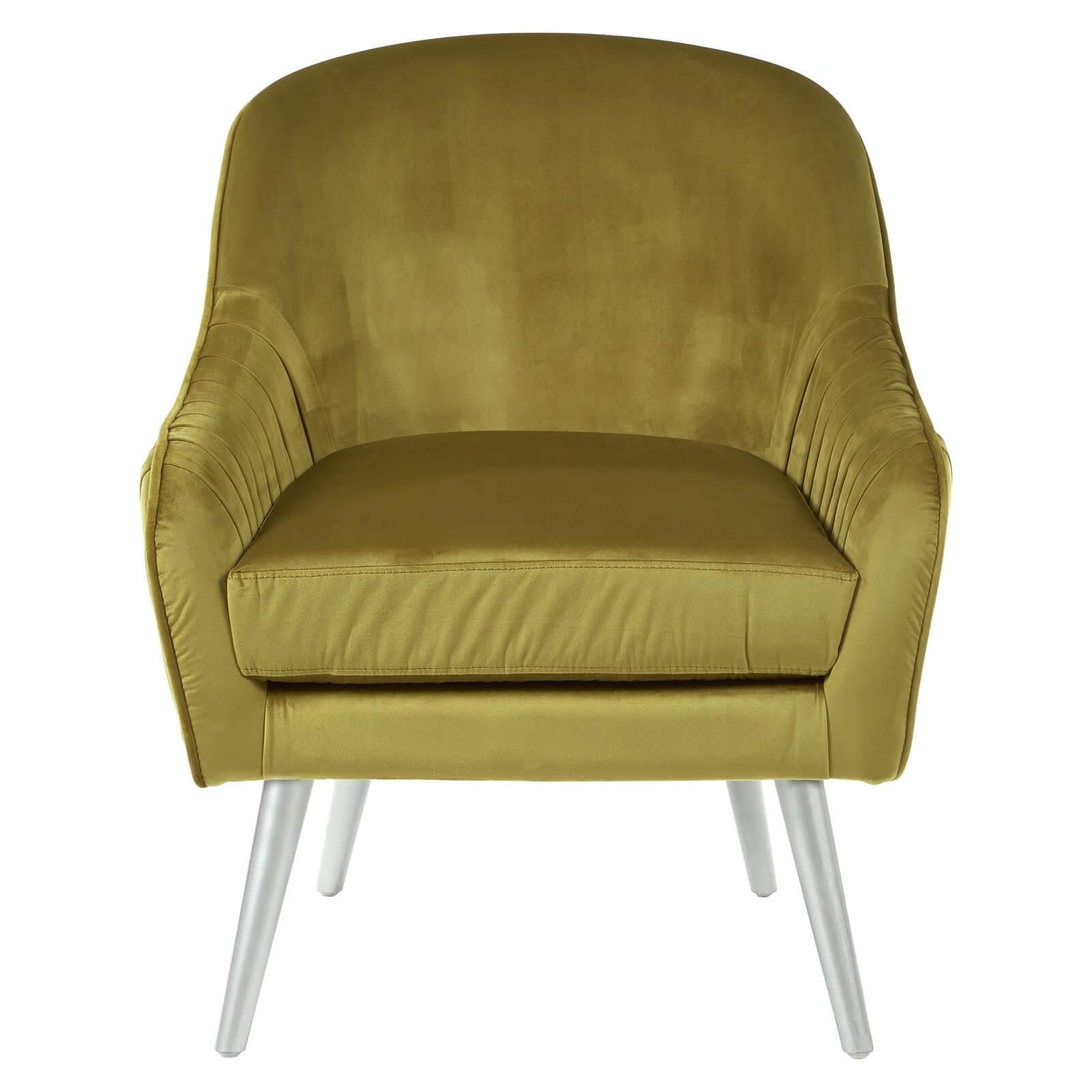 Louxor Velvet Armchair - Mustard