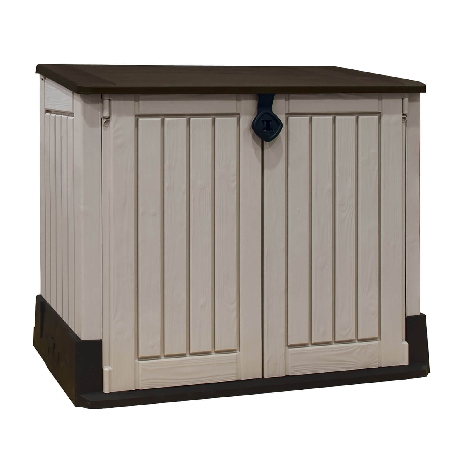 Keter Store It Out Midi Outdoor Garden Storage Shed 845L - Beige/Brown