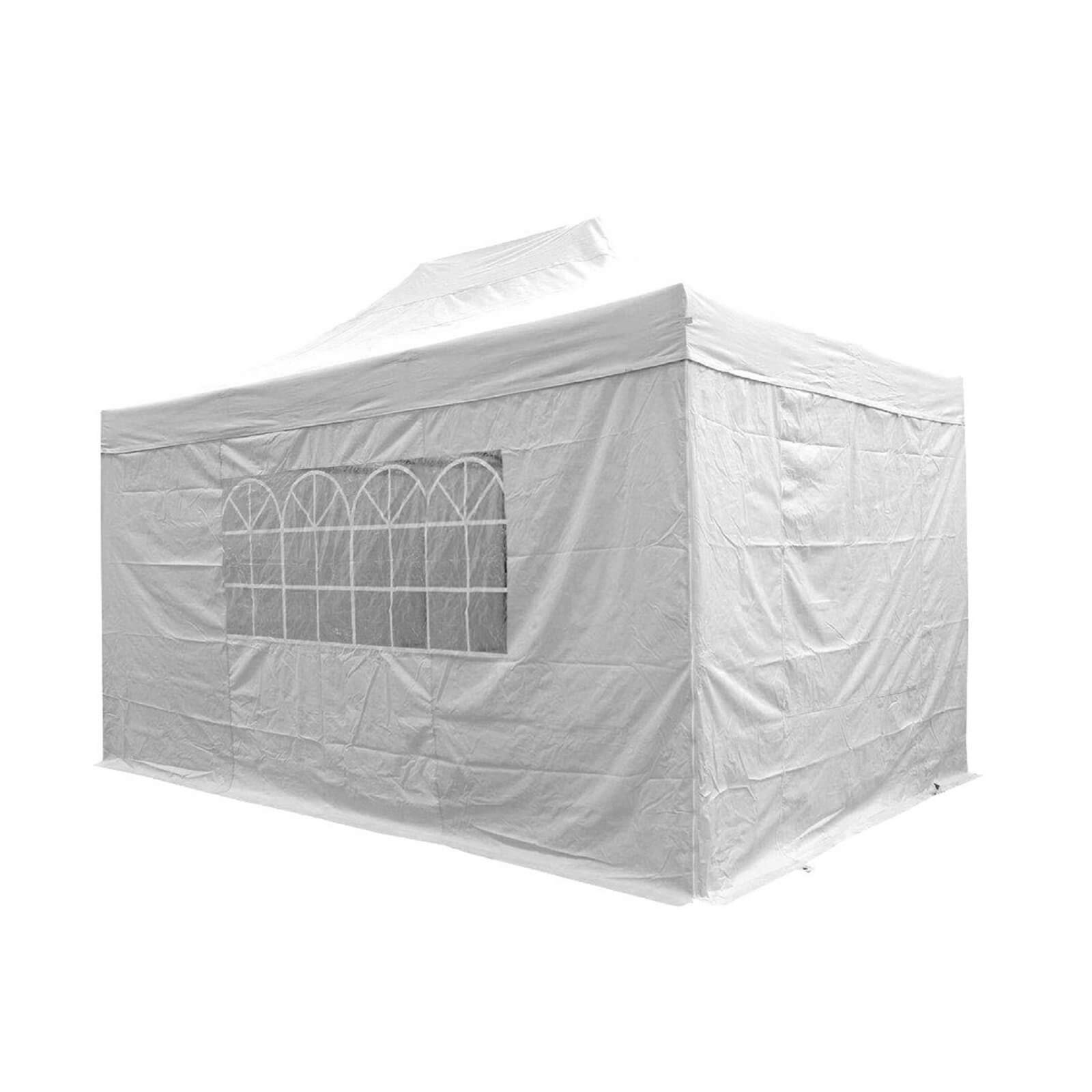 Airwave Four Seasons Essential 3x4.5 Pop Up Gazebo with Sides - White