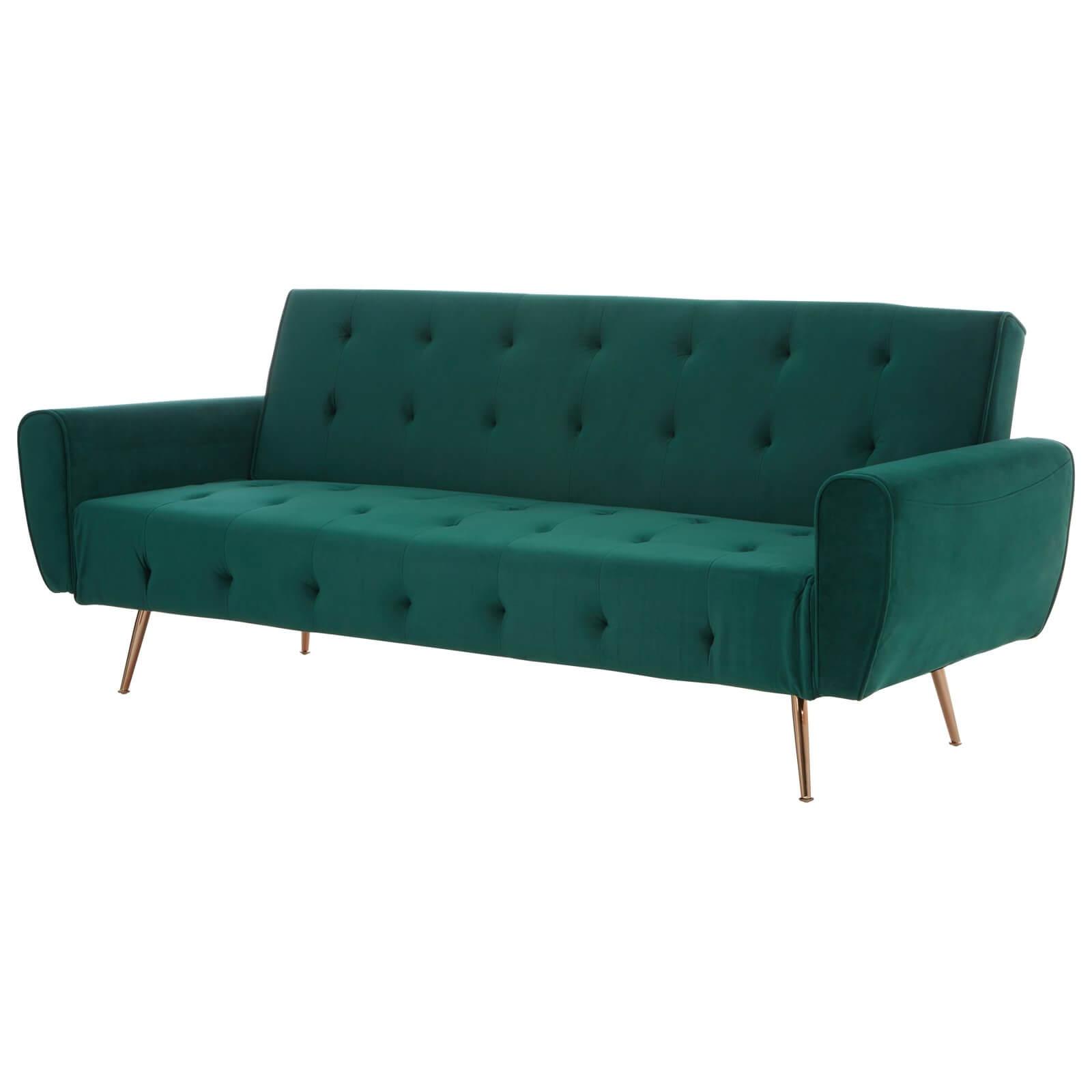 Bowery Sofa Bed - Green Velvet