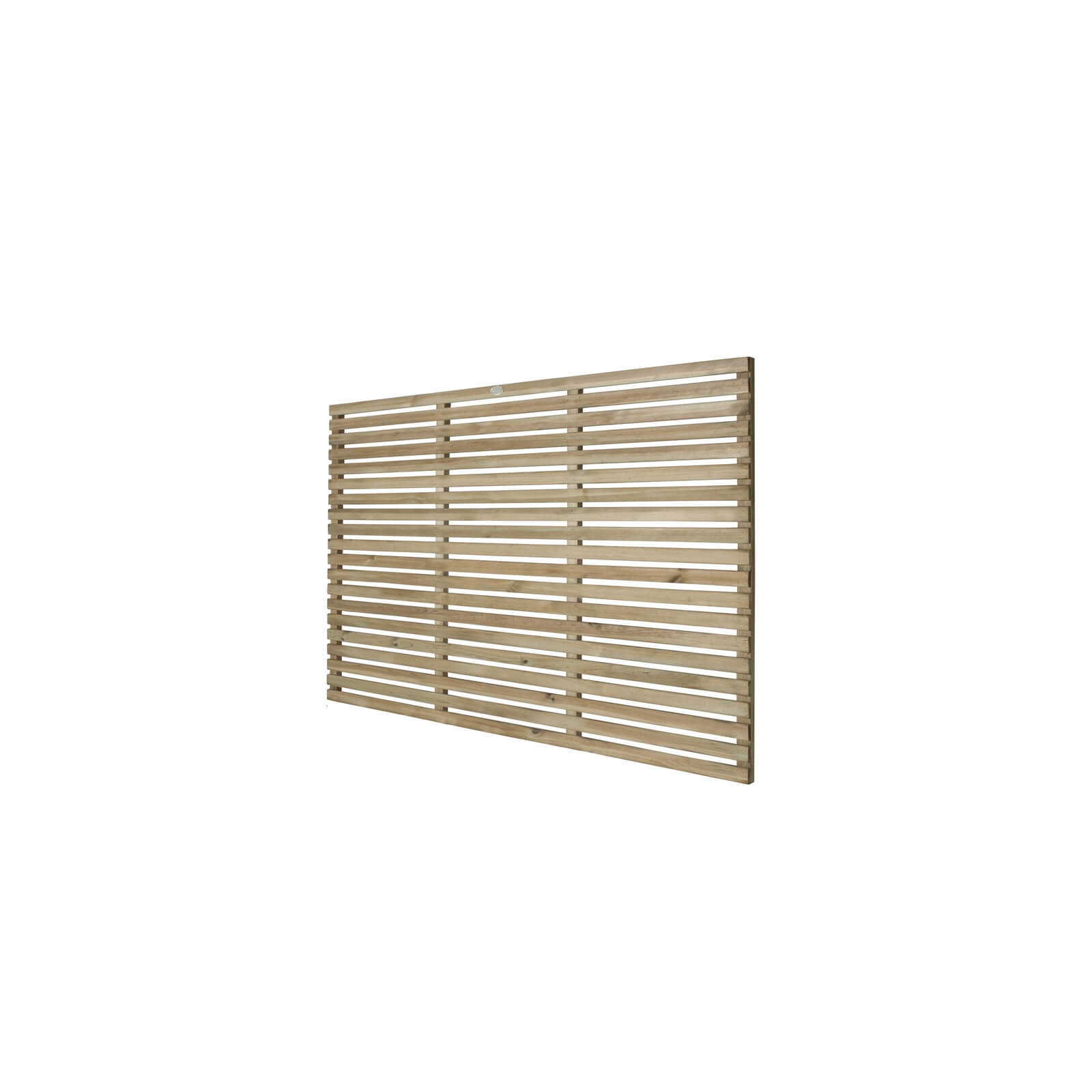 6ft x 4ft (1.8m x 1.2m) Pressure Treated Contemporary Slatted Fence Panel - Pack of 4