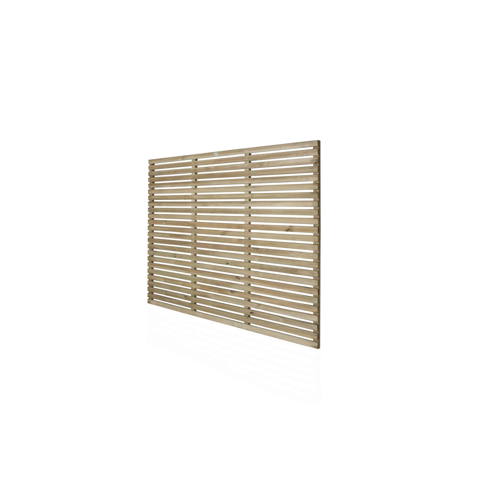 6ft x 5ft (1.8m x 1.5m) Pressure Treated Contemporary Slatted Fence Panel - Pack of 3