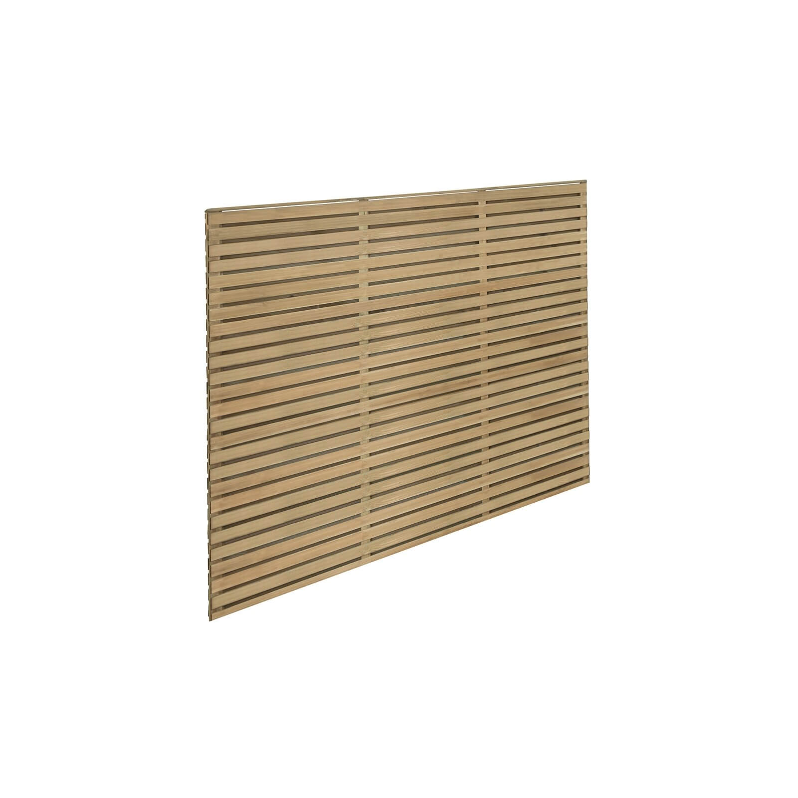 6ft x 5ft (1.8m x 1.5m) Pressure Treated Contemporary Double Slatted Fence Panel - Pack of 5